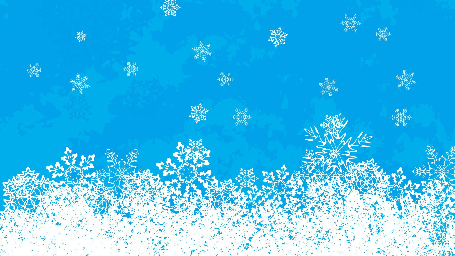 Wallpaper Snowflakes on blue background