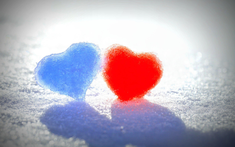 Fondos de pantalla Corazones de nieve