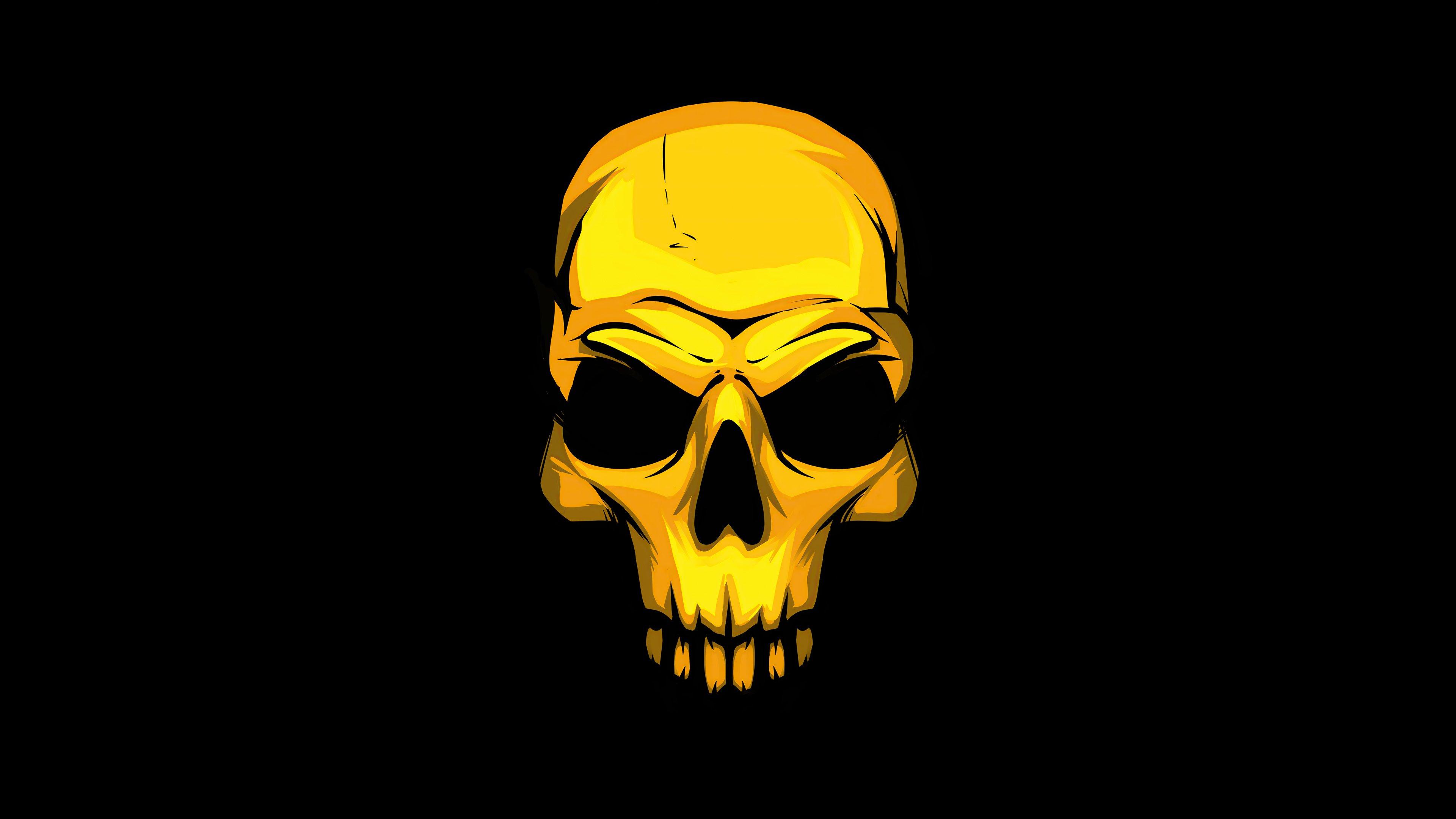Fondos de pantalla Cráneo dorado