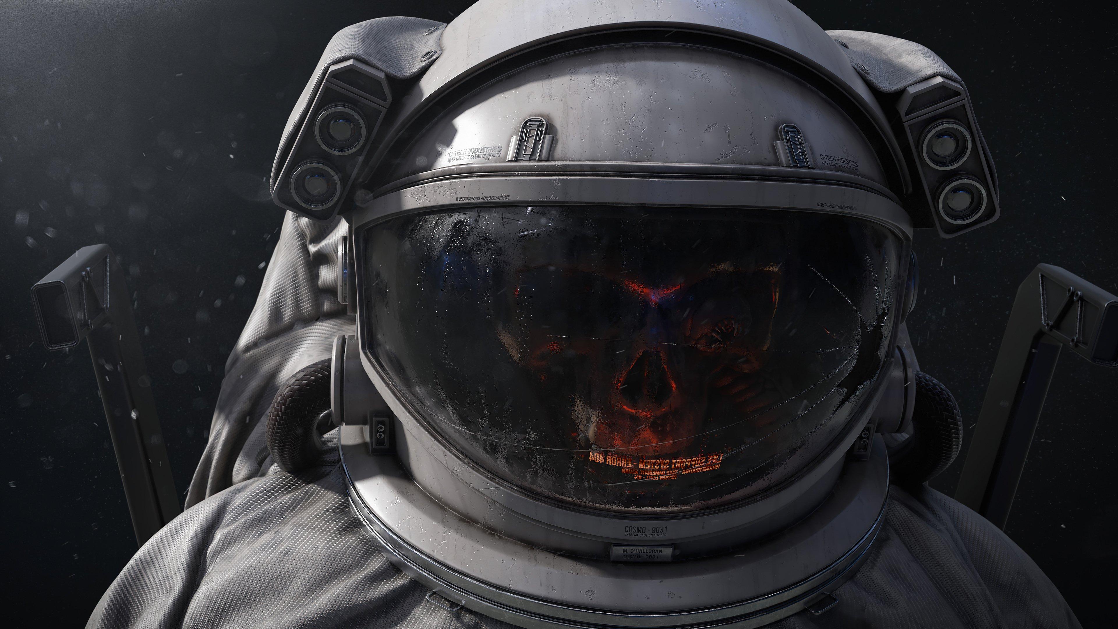 Fondos de pantalla Cráneo en traje de astronauta