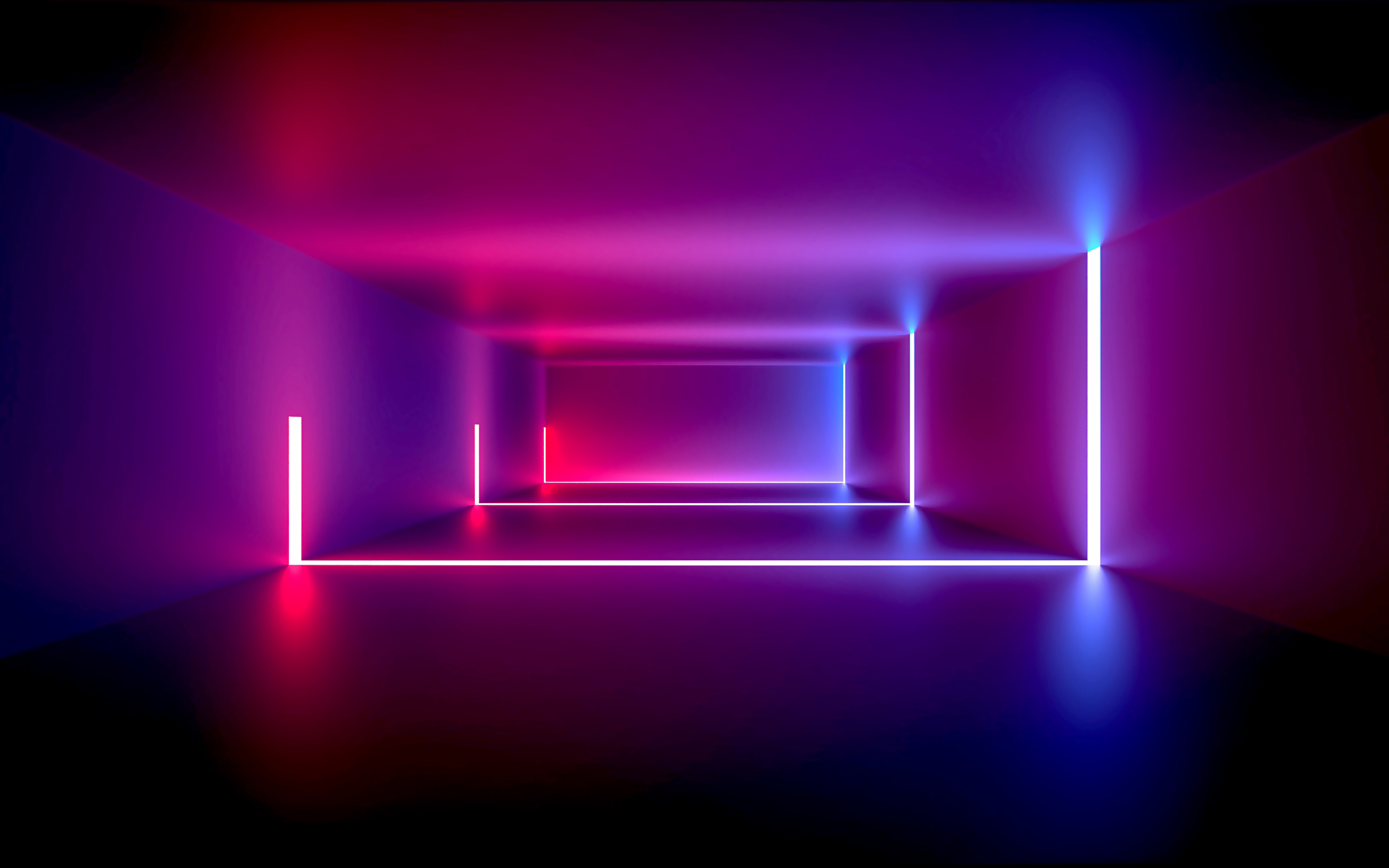 Wallpaper Room with neon lights