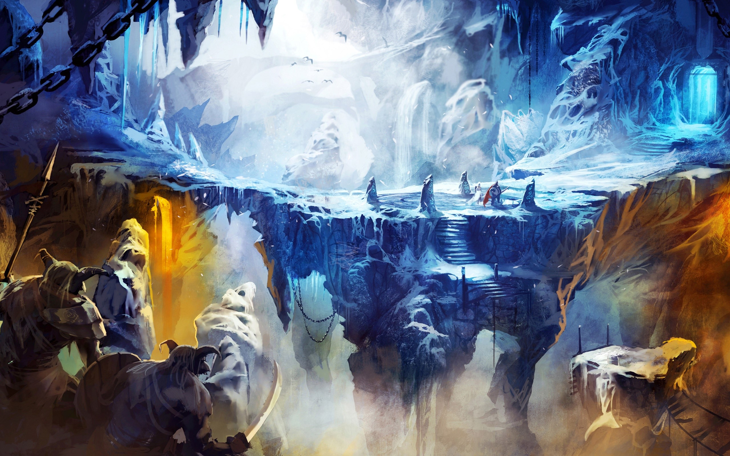 Wallpaper Cueva colgelada en trine 2 Images