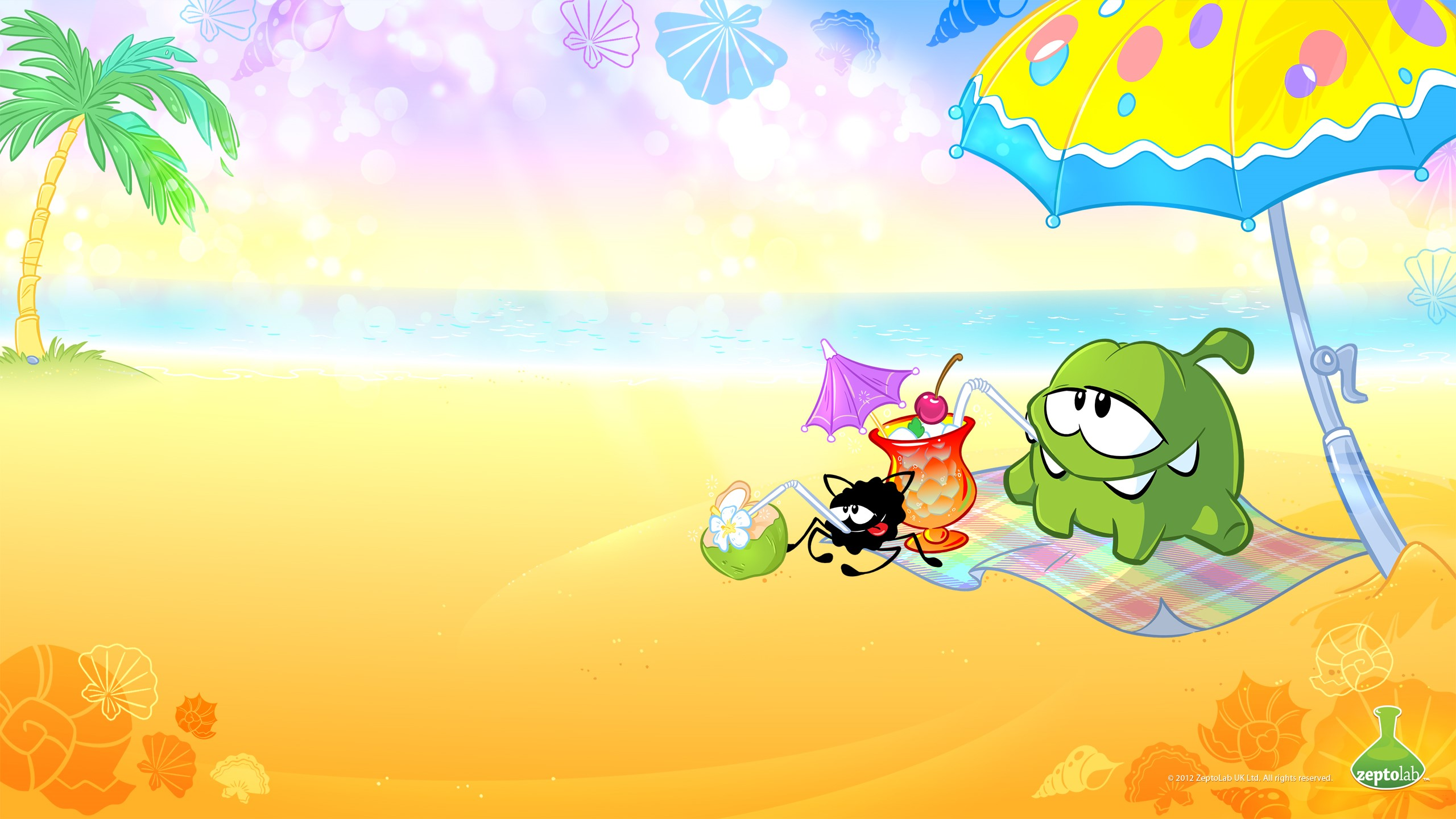 Fondo de pantalla de Cut the rope en la playa Imágenes