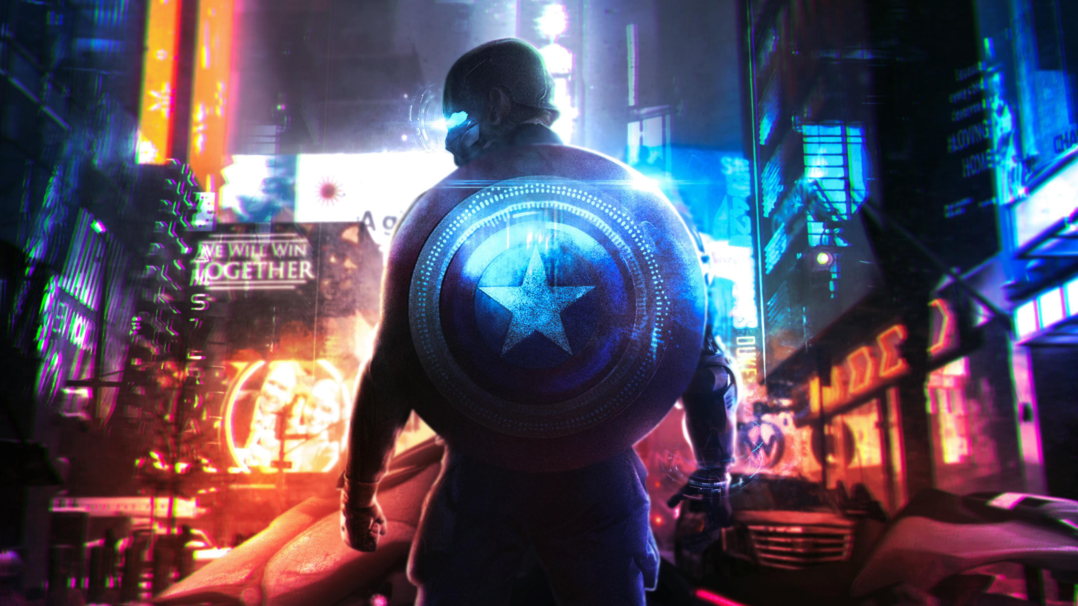 Cyberpunk Captain America Fanart Wallpaper Id3237