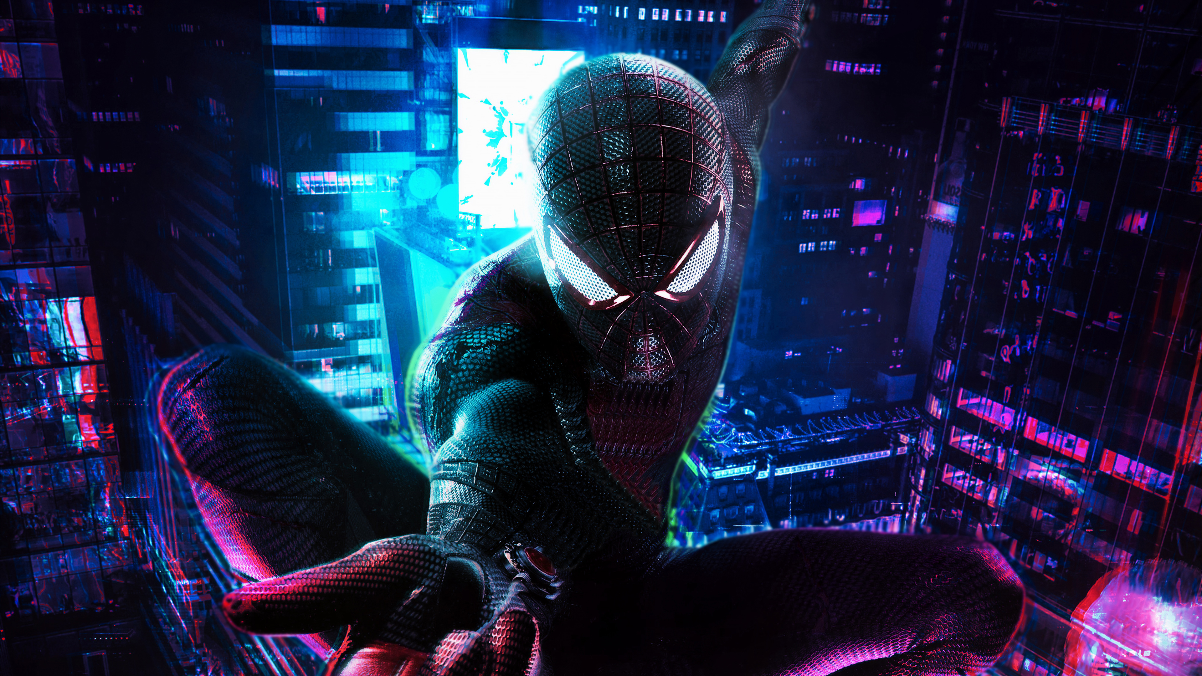 Cyberpunk Spiderman Fanart Wallpaper 4k Ultra Hd Id3239