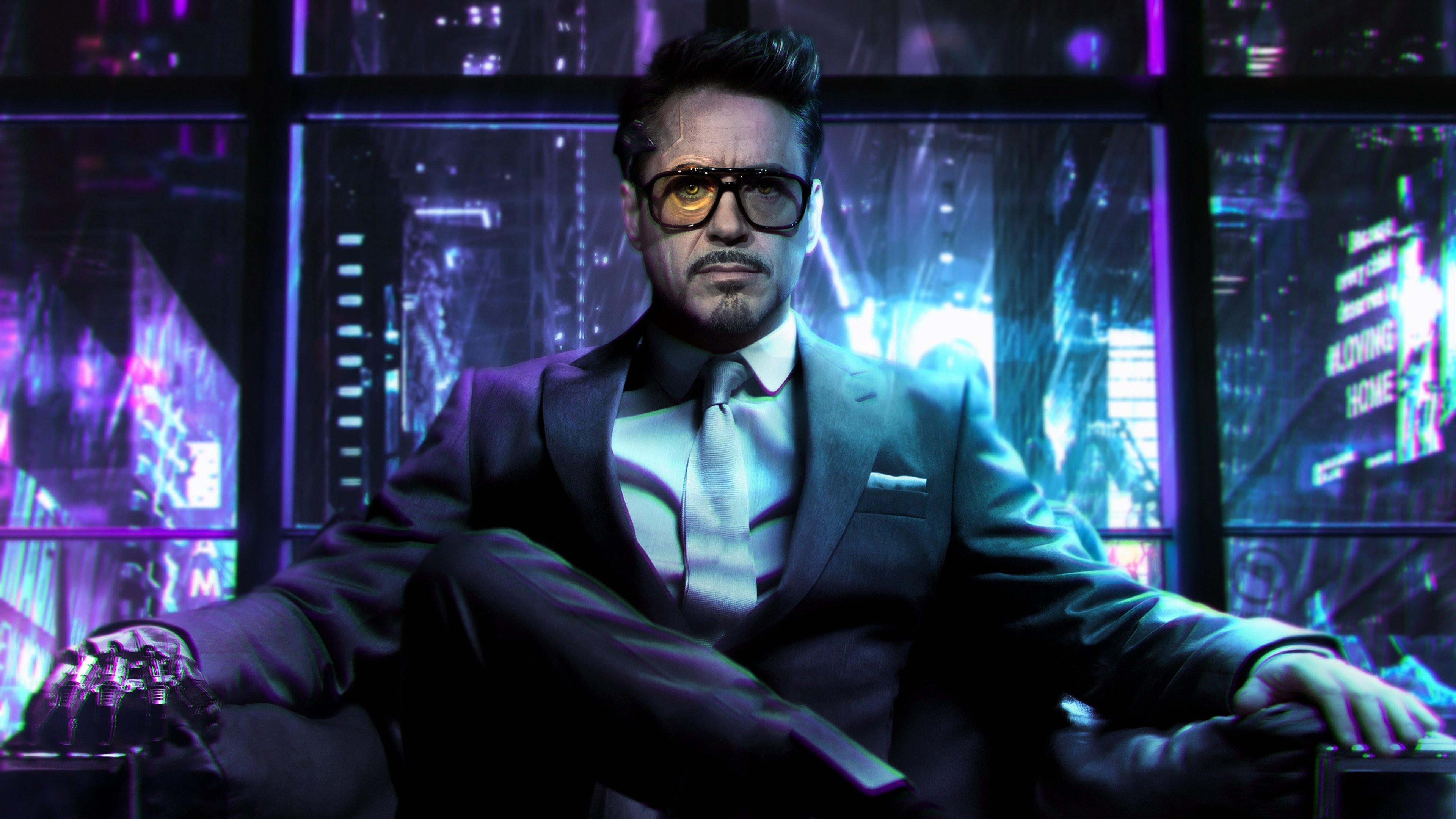 Cyberpunk Tony Stark Fanart Fondo De Pantalla 4k Ultra Hd Id