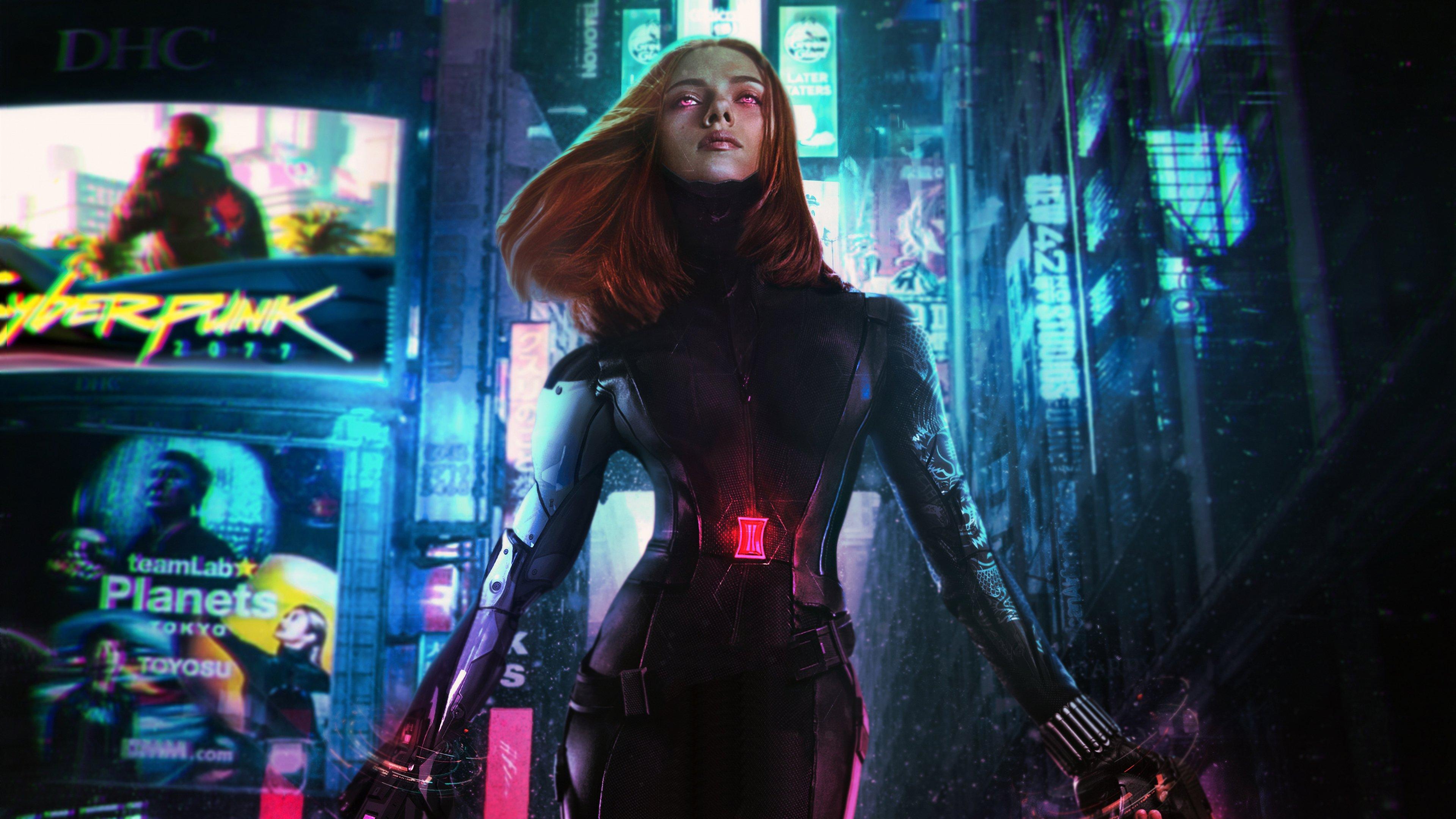 Fondos de pantalla Cyberpunk Viuda Negra Fanart