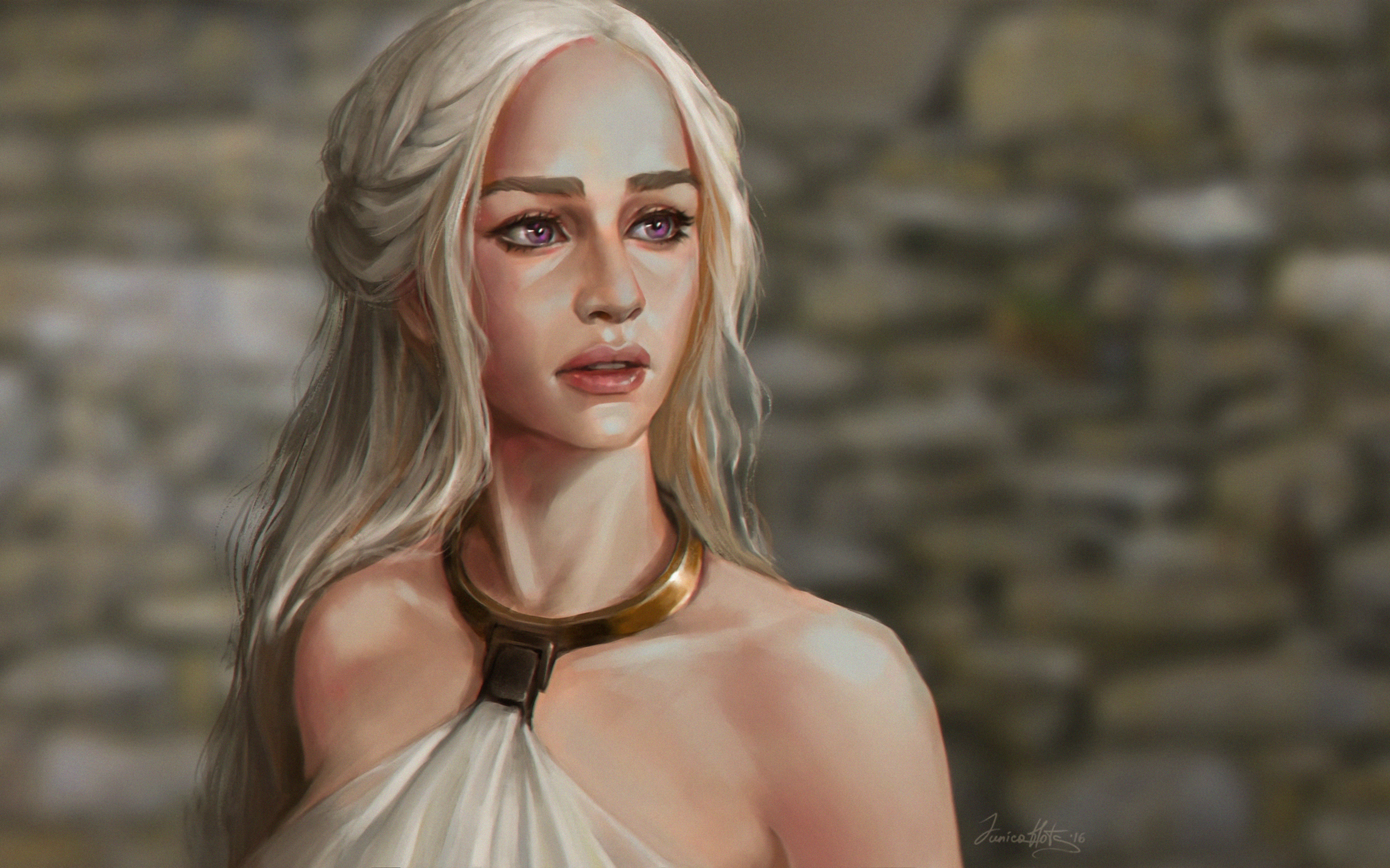 Wallpaper Daenerys Tagaryen Fanart