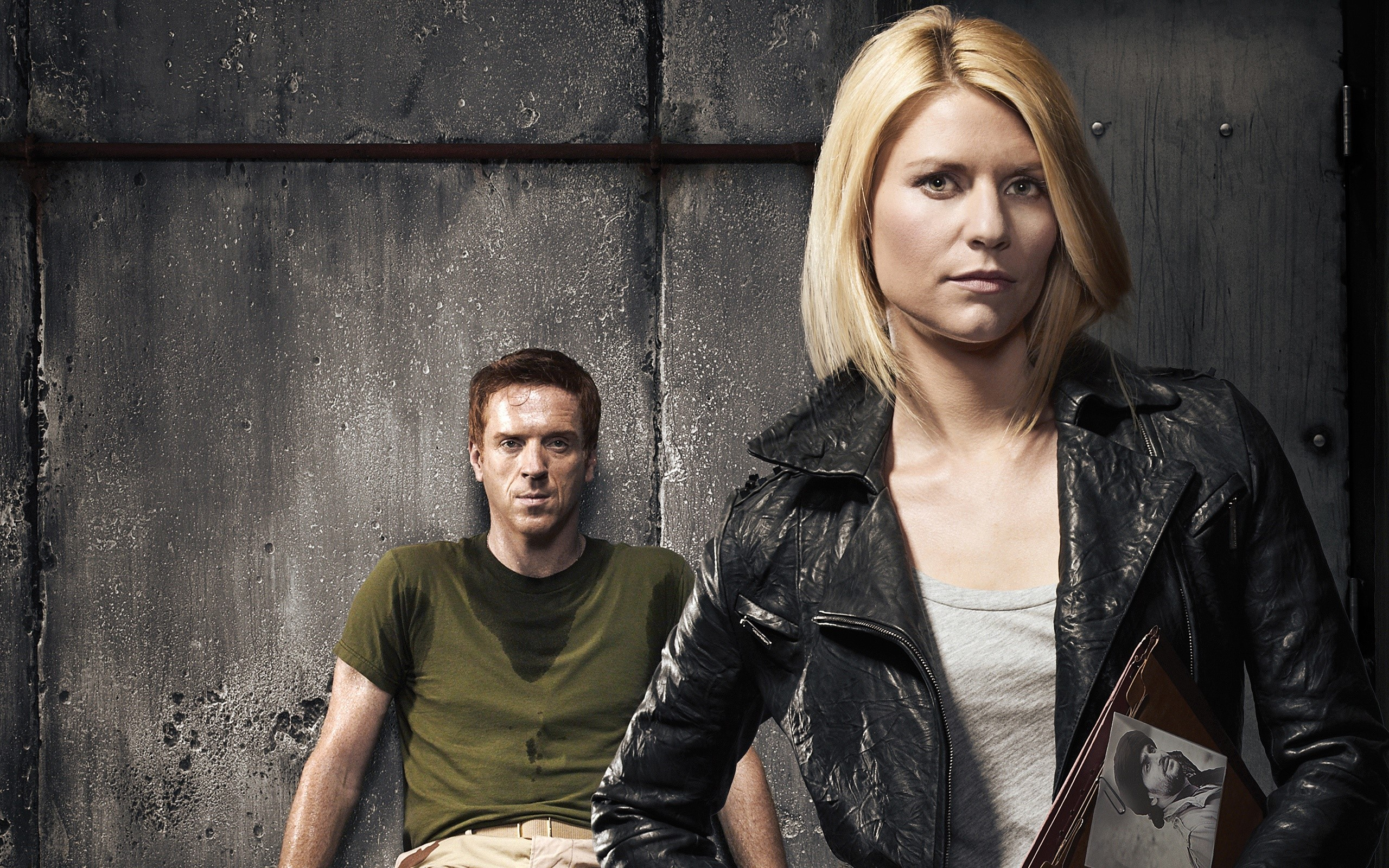 Wallpaper Damian Lewis and Clare Danes at Homeland