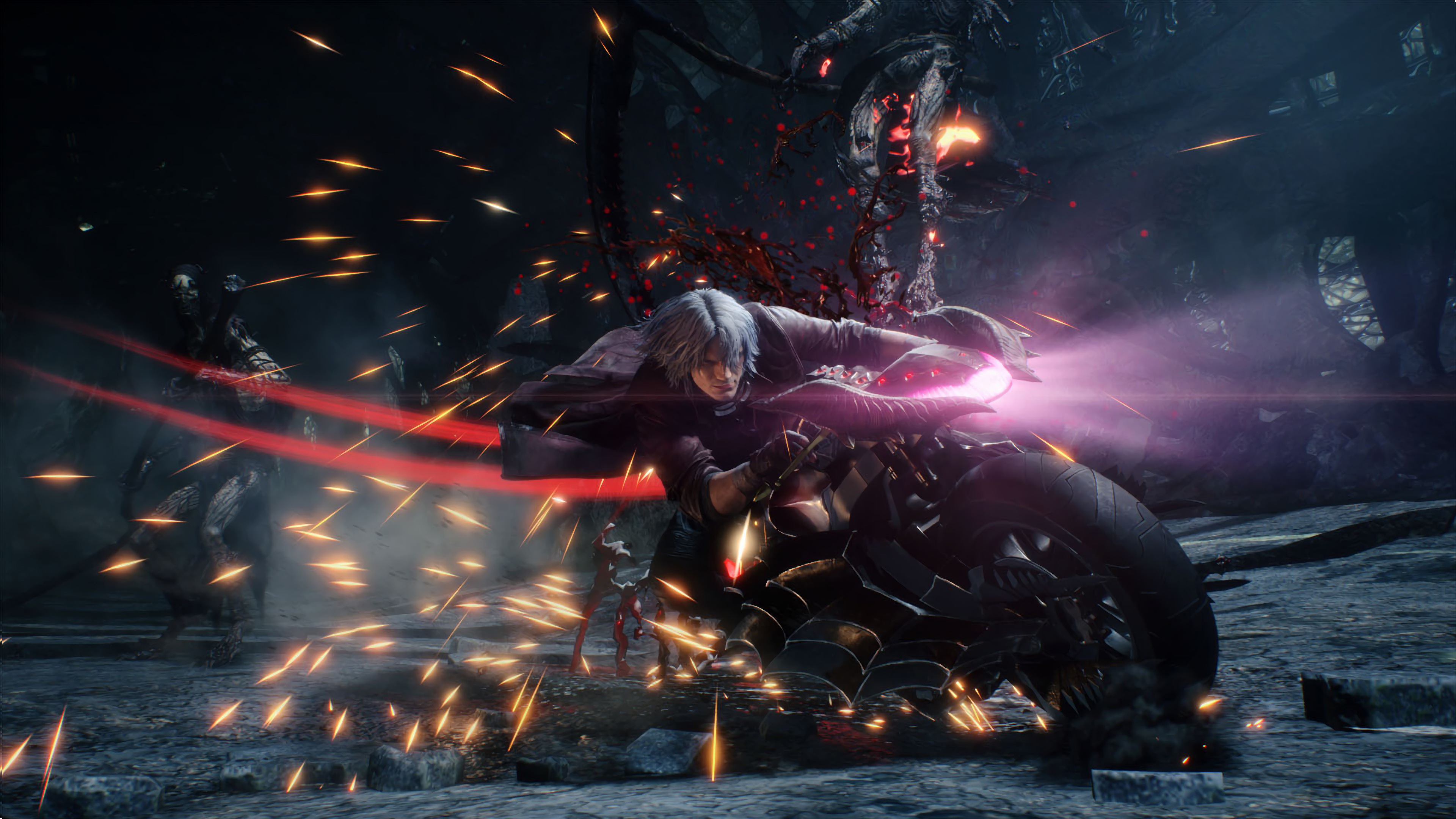Dante Motorcycle Devil May Cry 5 Wallpaper 4k Ultra Hd Id4324