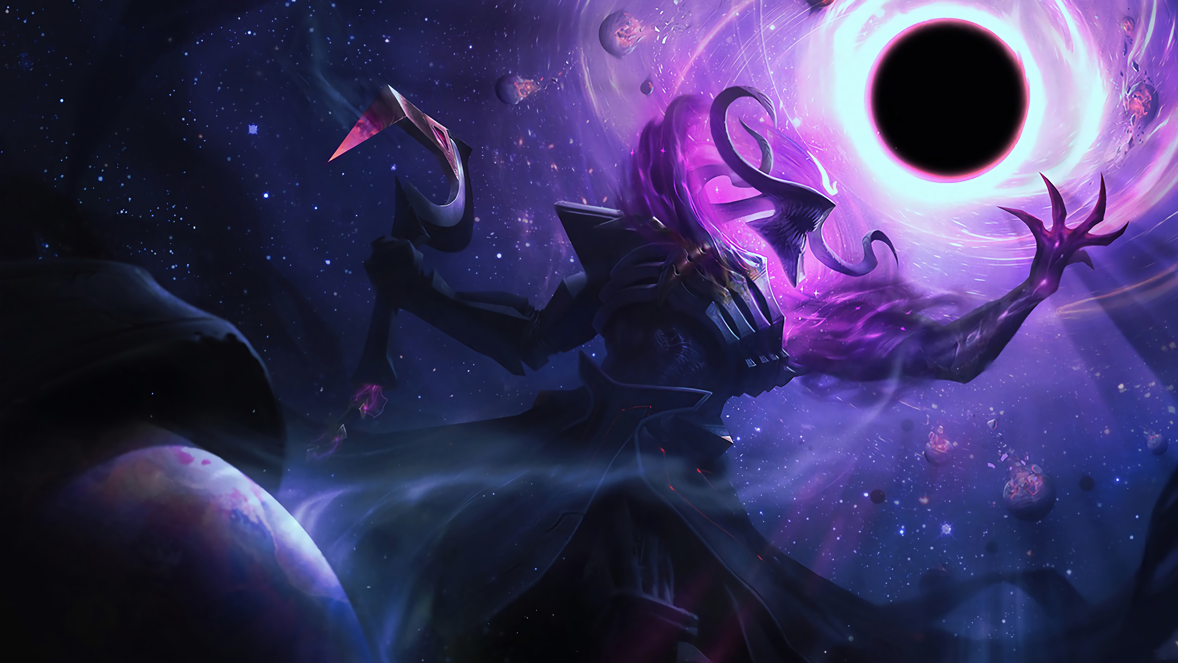 Wallpaper Dark Star Thresh League of Legends
