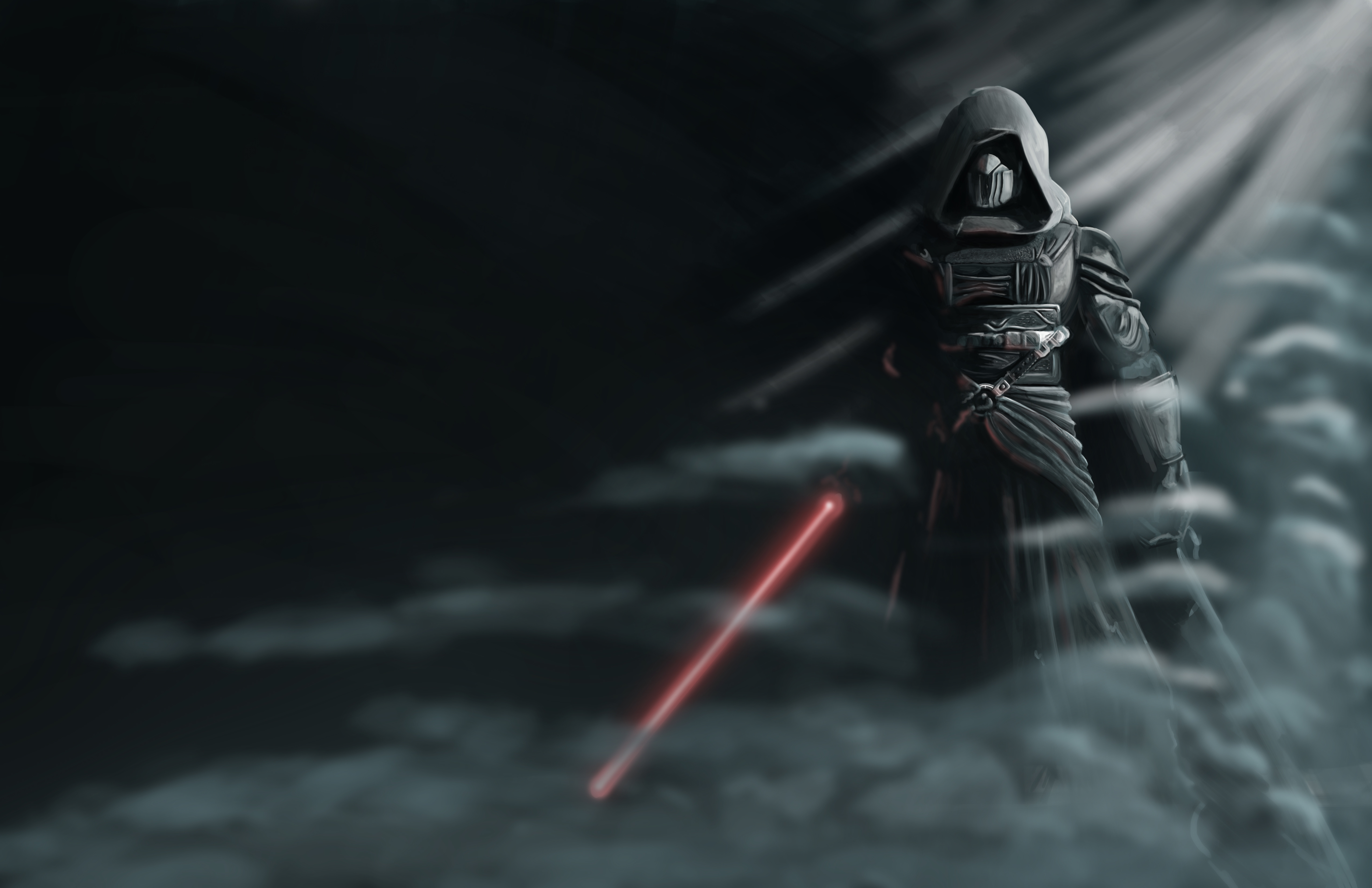 Fondos de pantalla Darth Revan Star Wars con Sable de Luz