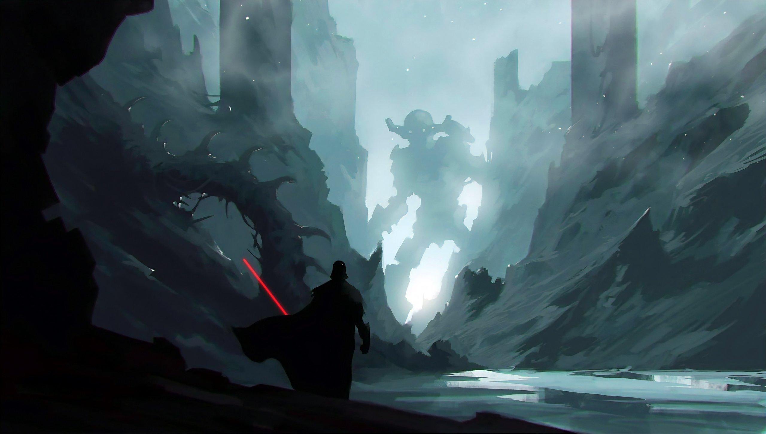 Fondos de pantalla Darth Vader con Sable de Luz