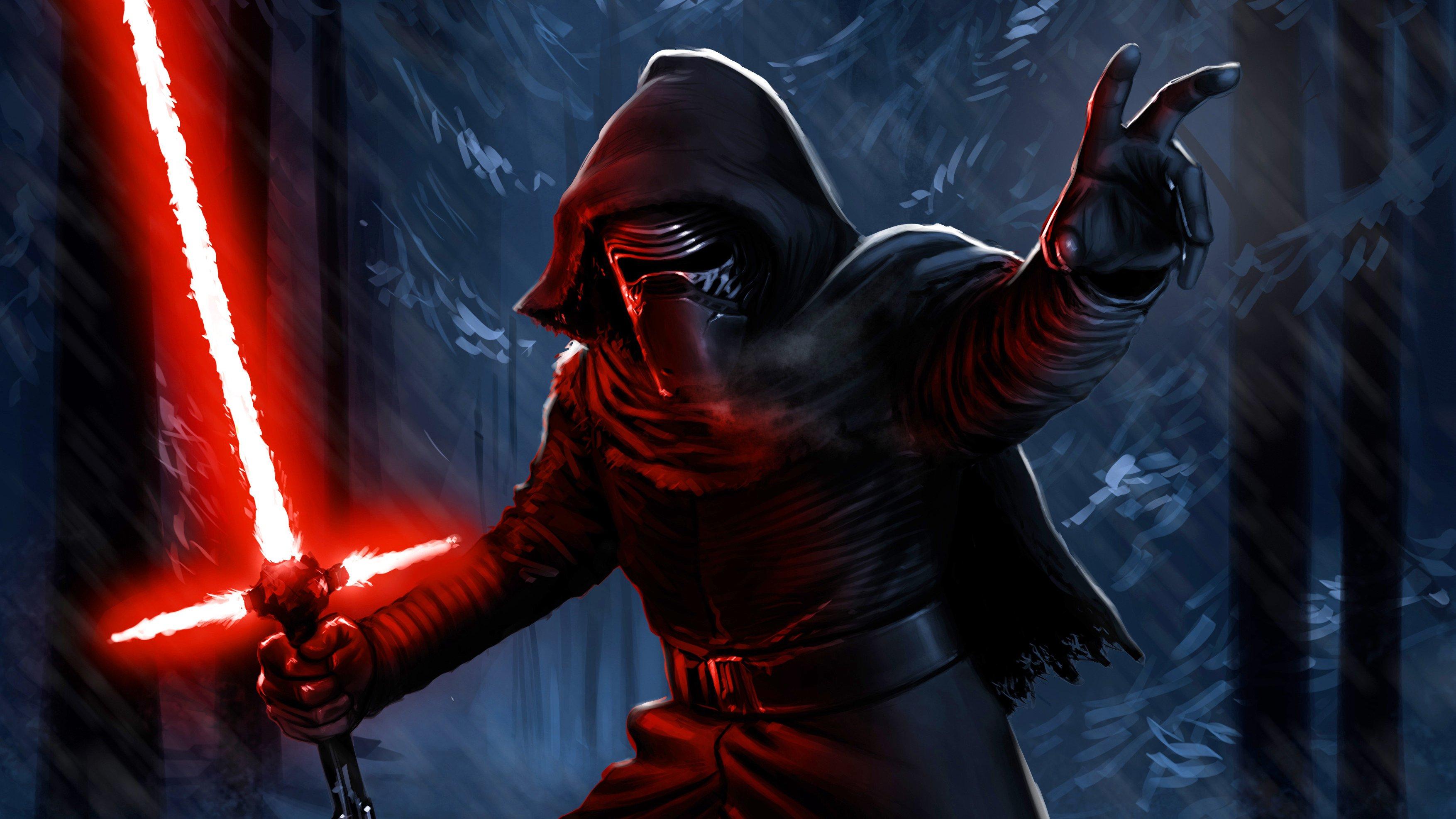 Fondos de pantalla Darth Vader con sable de luz Fanart