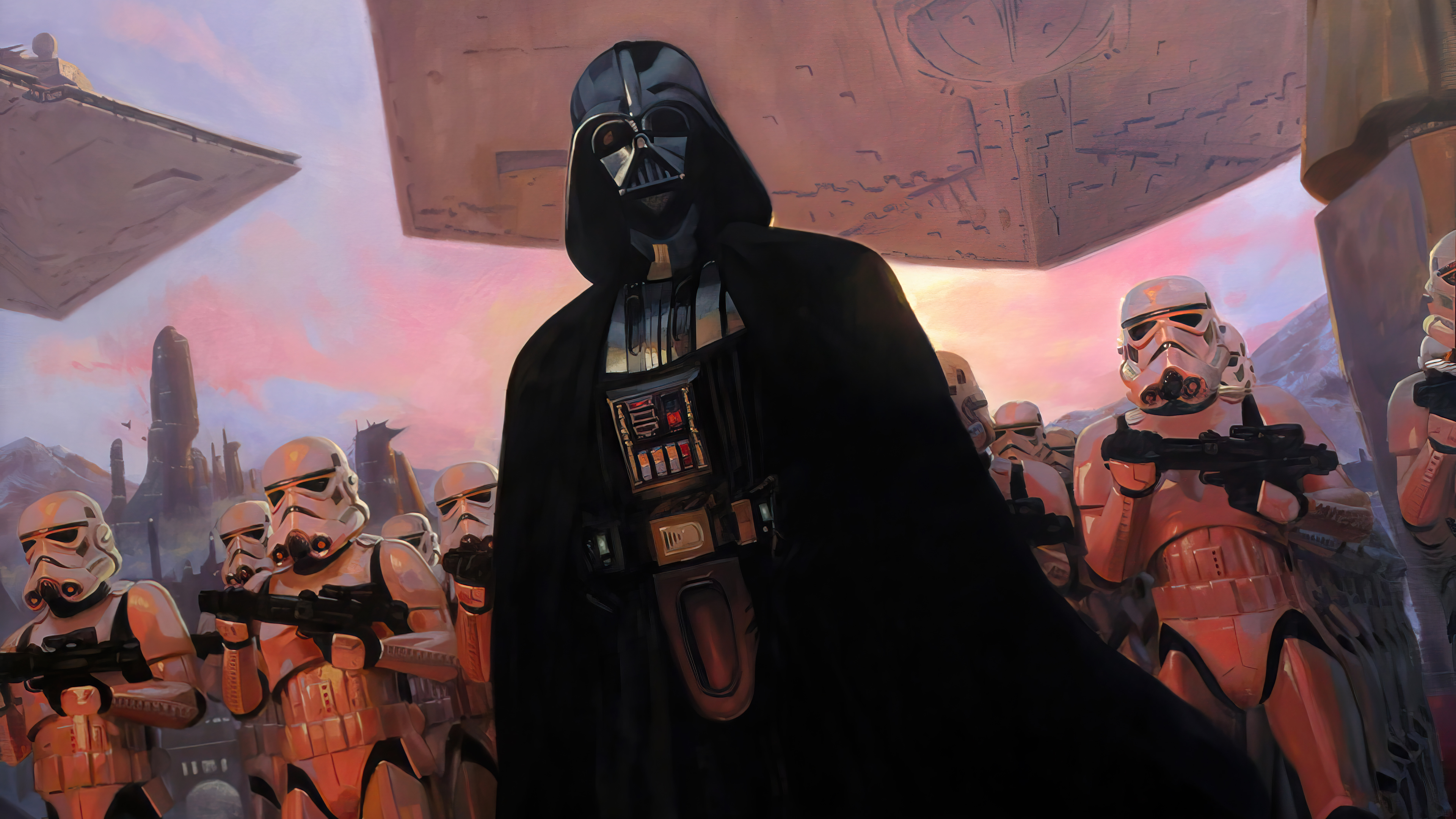 Wallpaper Darth Vader with Stormtroopers