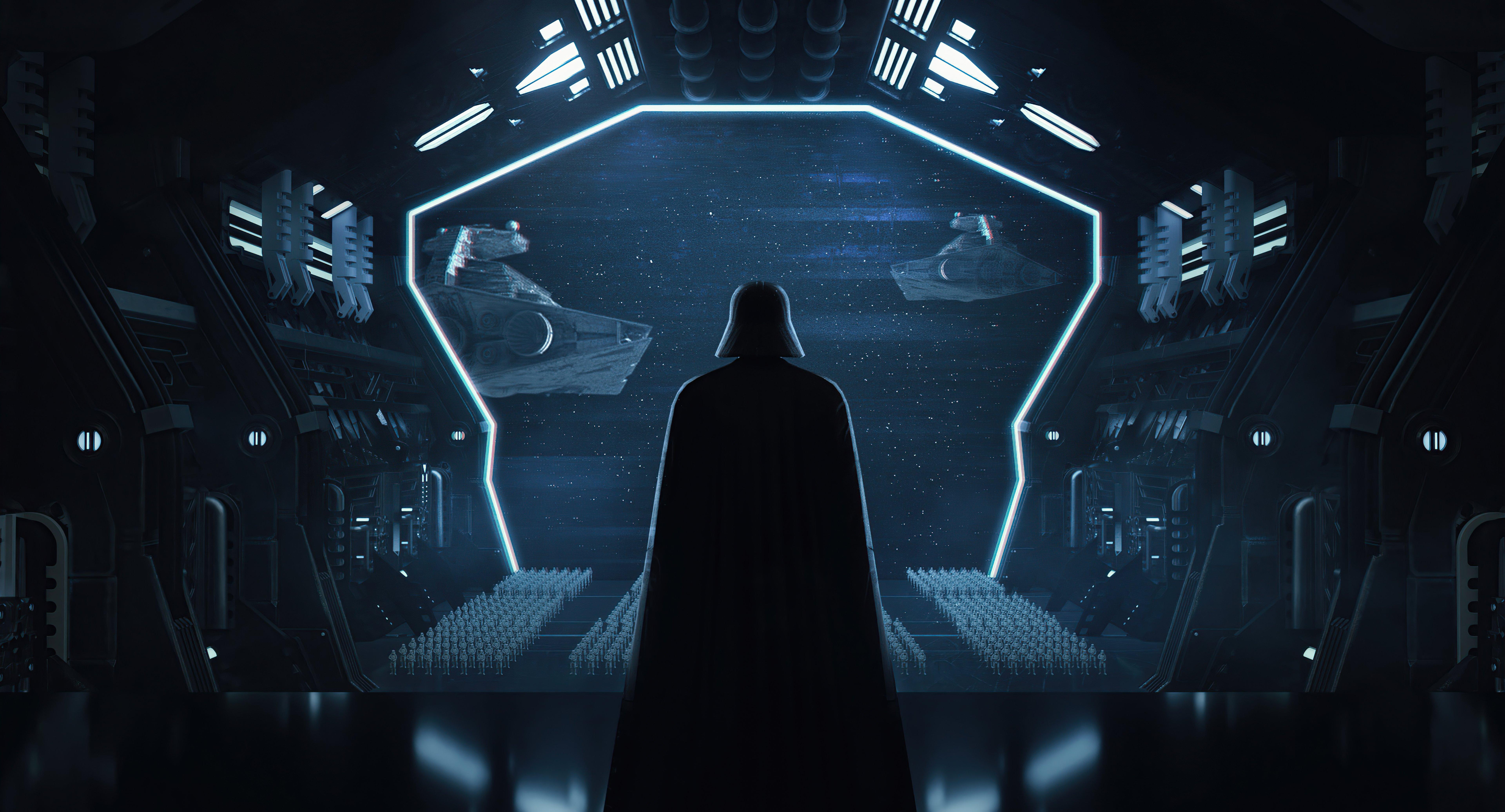 Wallpaper Darth Vader in Ship