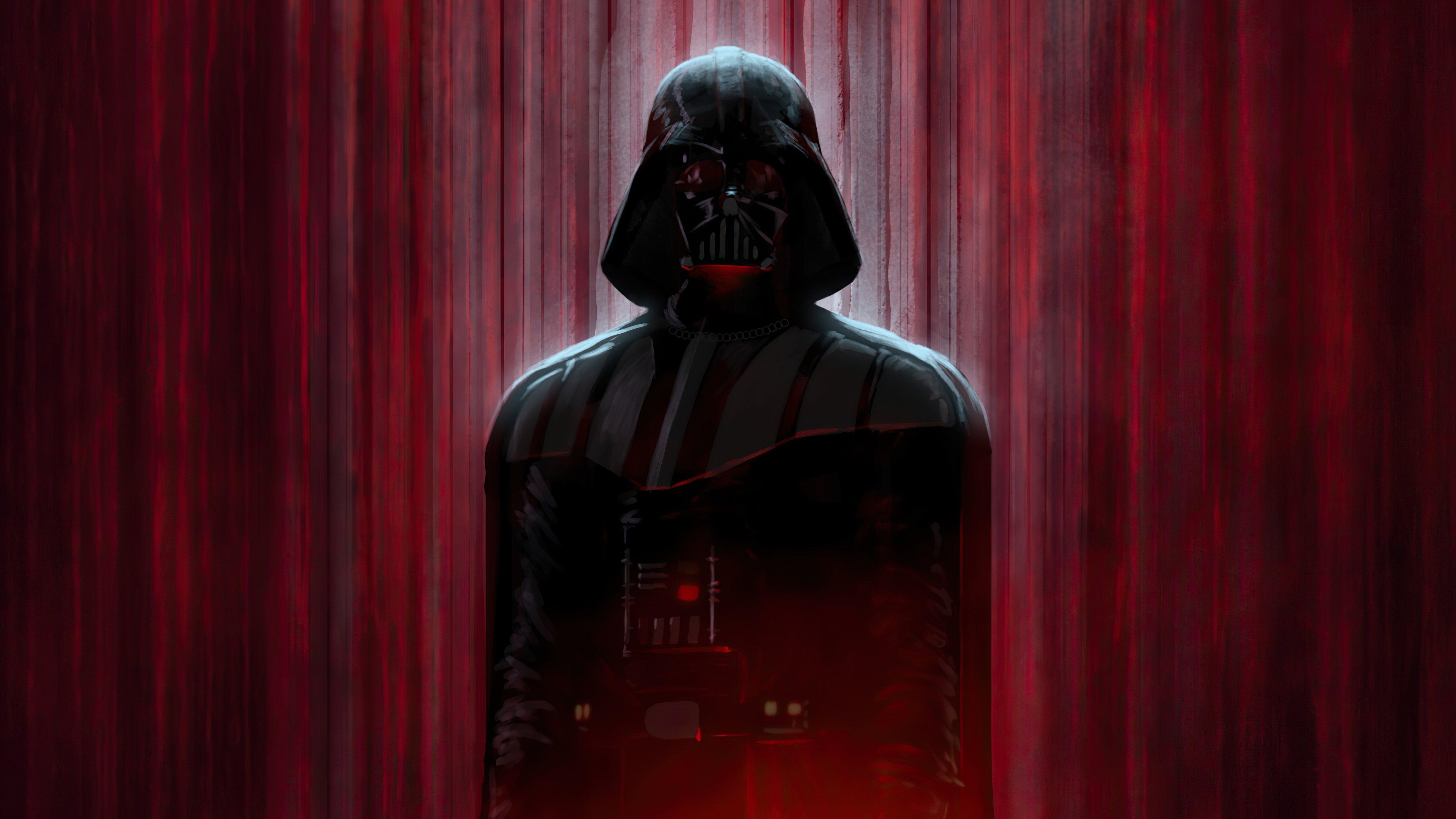 Fondos de pantalla Darth Vader en sombras