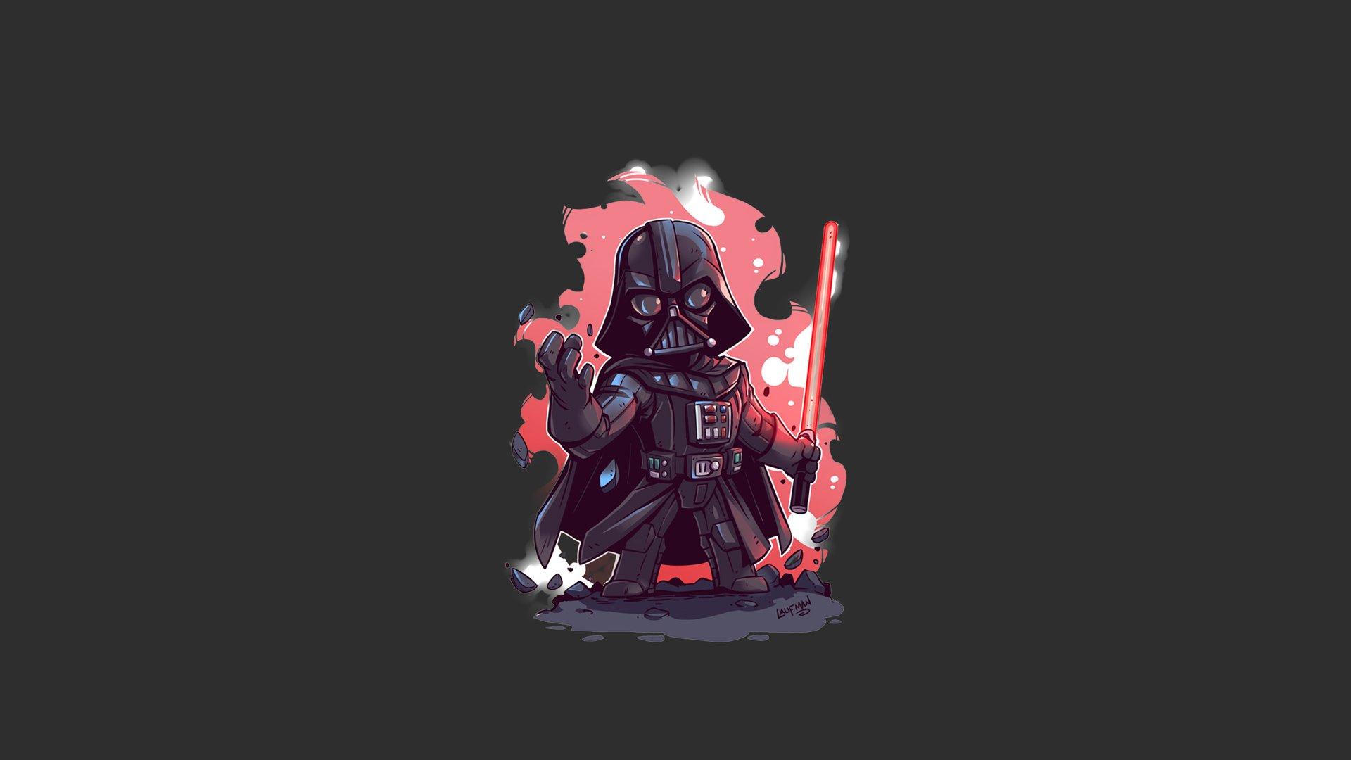 Fondos de pantalla Darth Vader Minimalista Ilustración