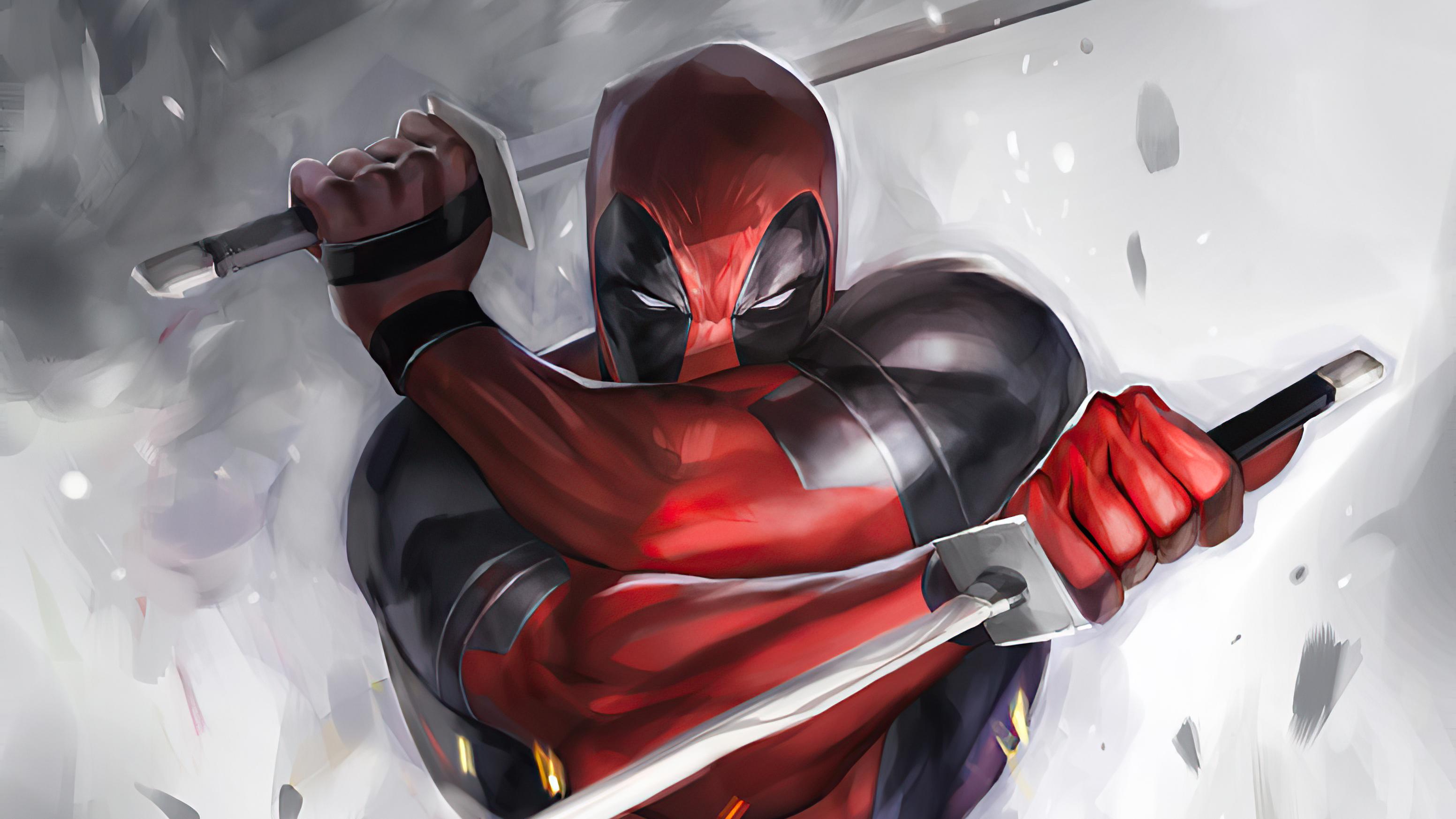 Fondos de pantalla Deadpool con katanas