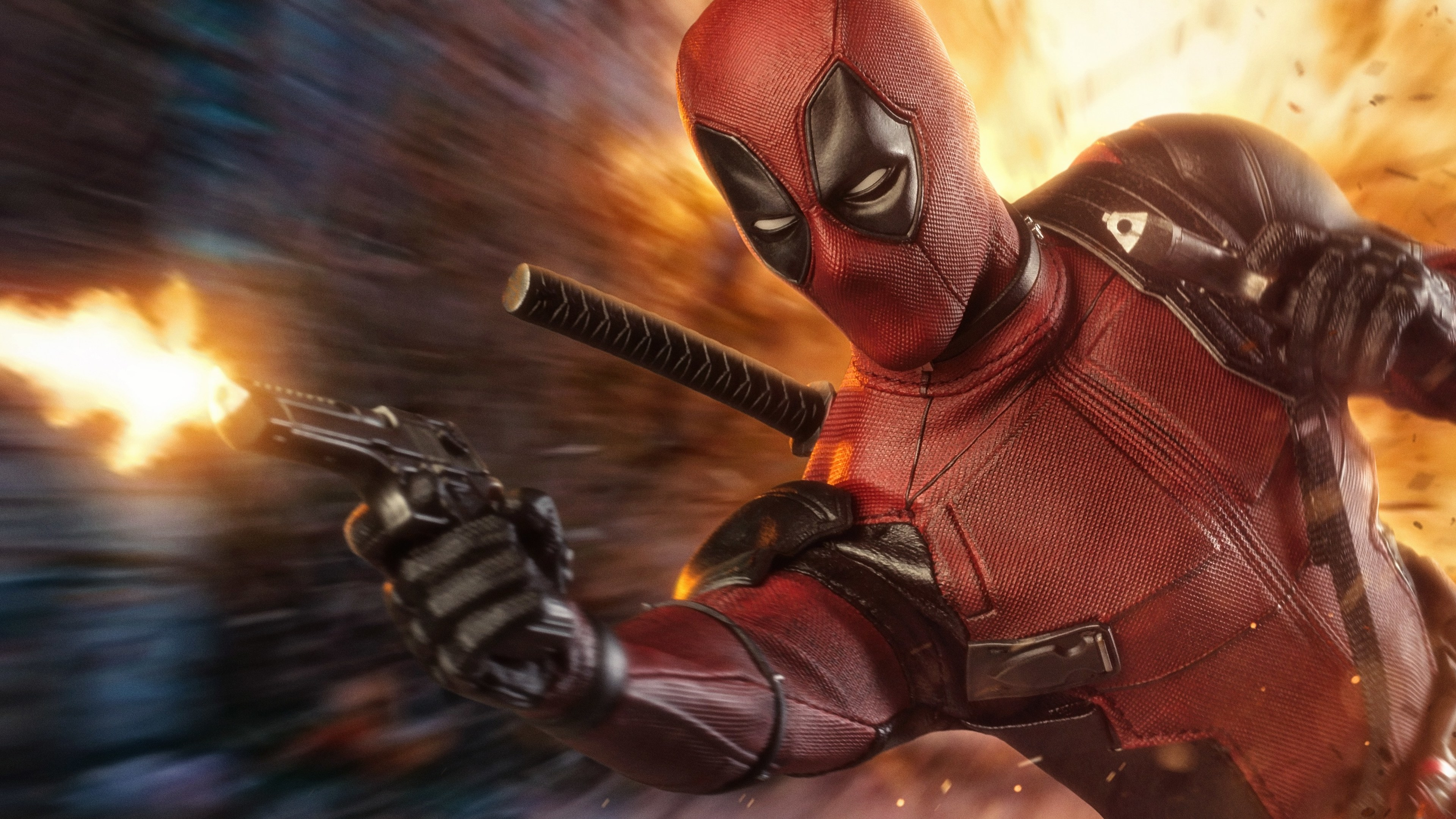 Deadpool with a gun Wallpaper 4k Ultra HD ID:3801