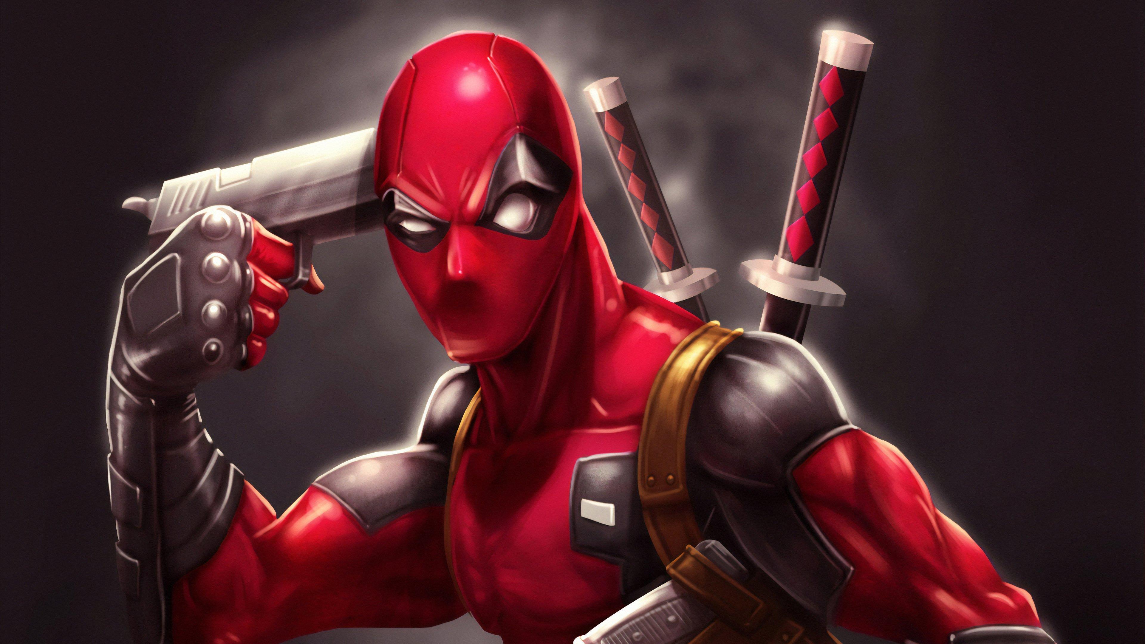 Fondos de pantalla Deadpool con pistola Fanart