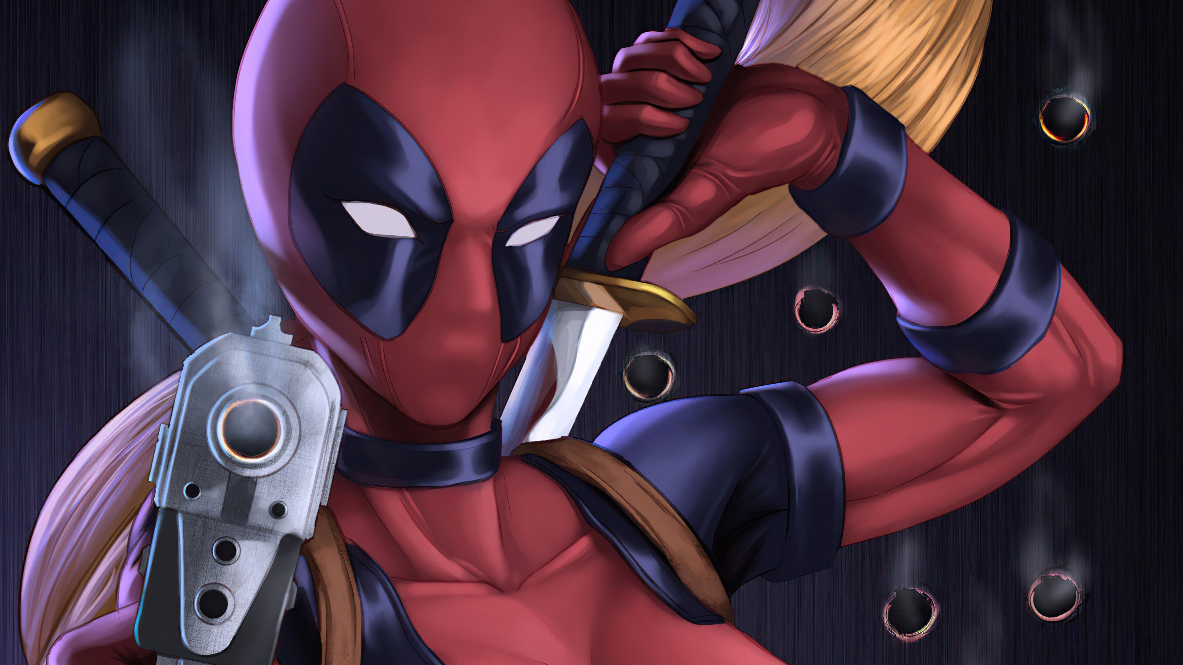 Wallpaper Lady Deadpool