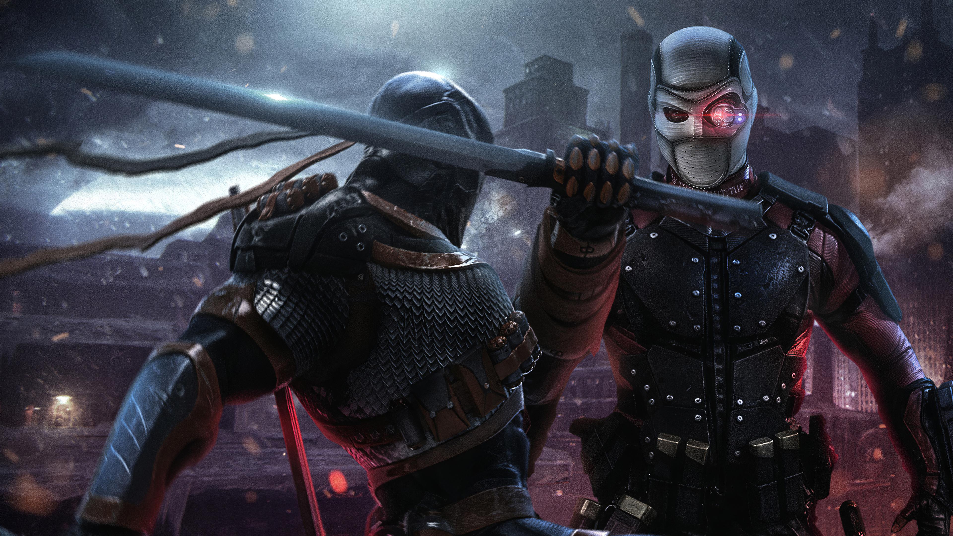 Wallpaper Deathstroke vs Deadshot