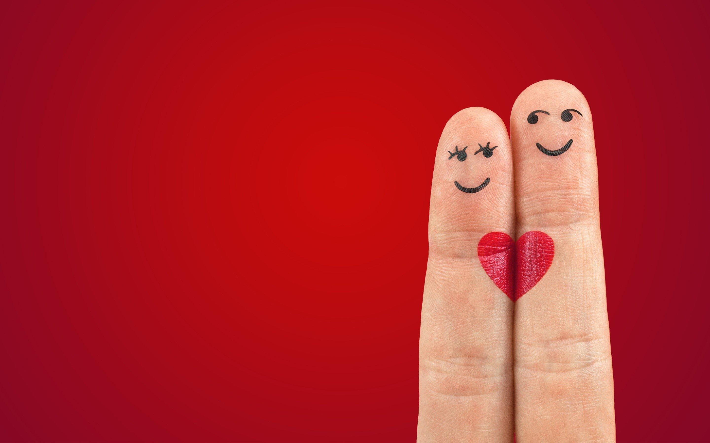 Wallpaper Fingers in love