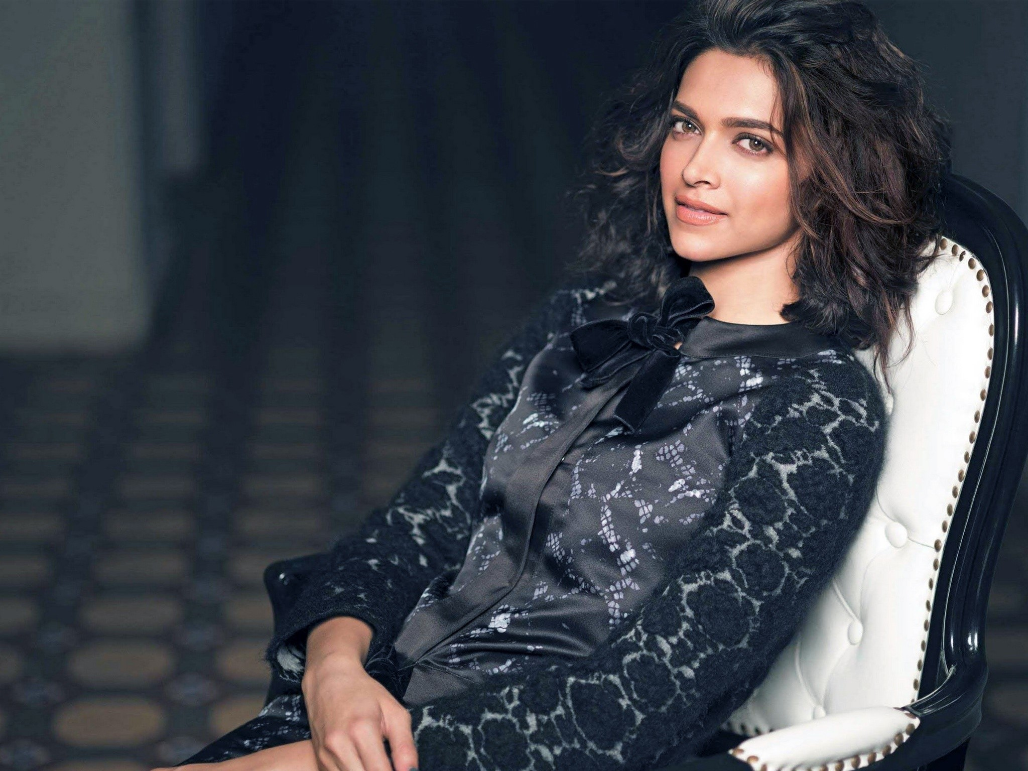 Wallpaper Deepika Padukone on a chair