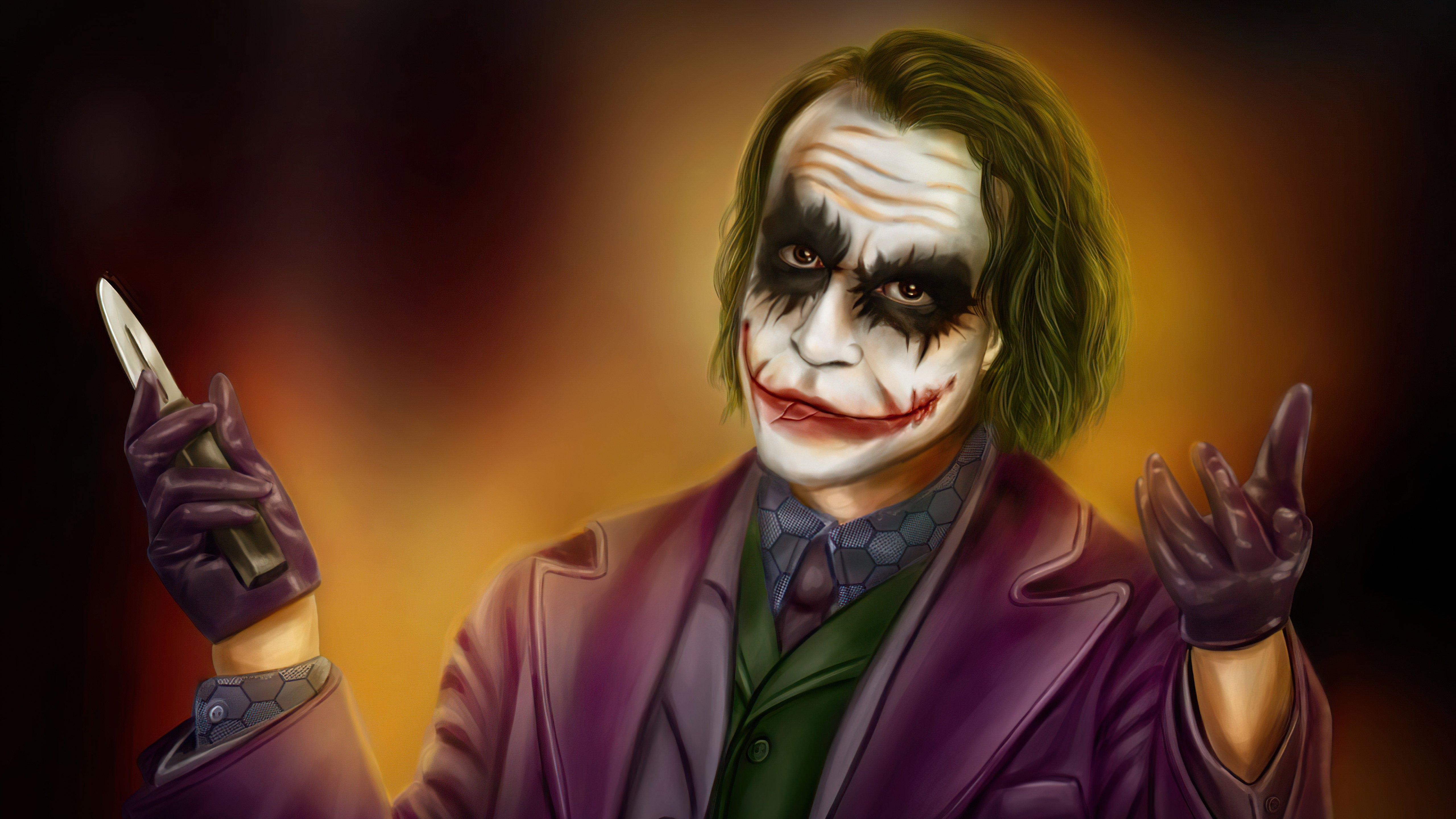 Wallpaper Let it Burn Joker