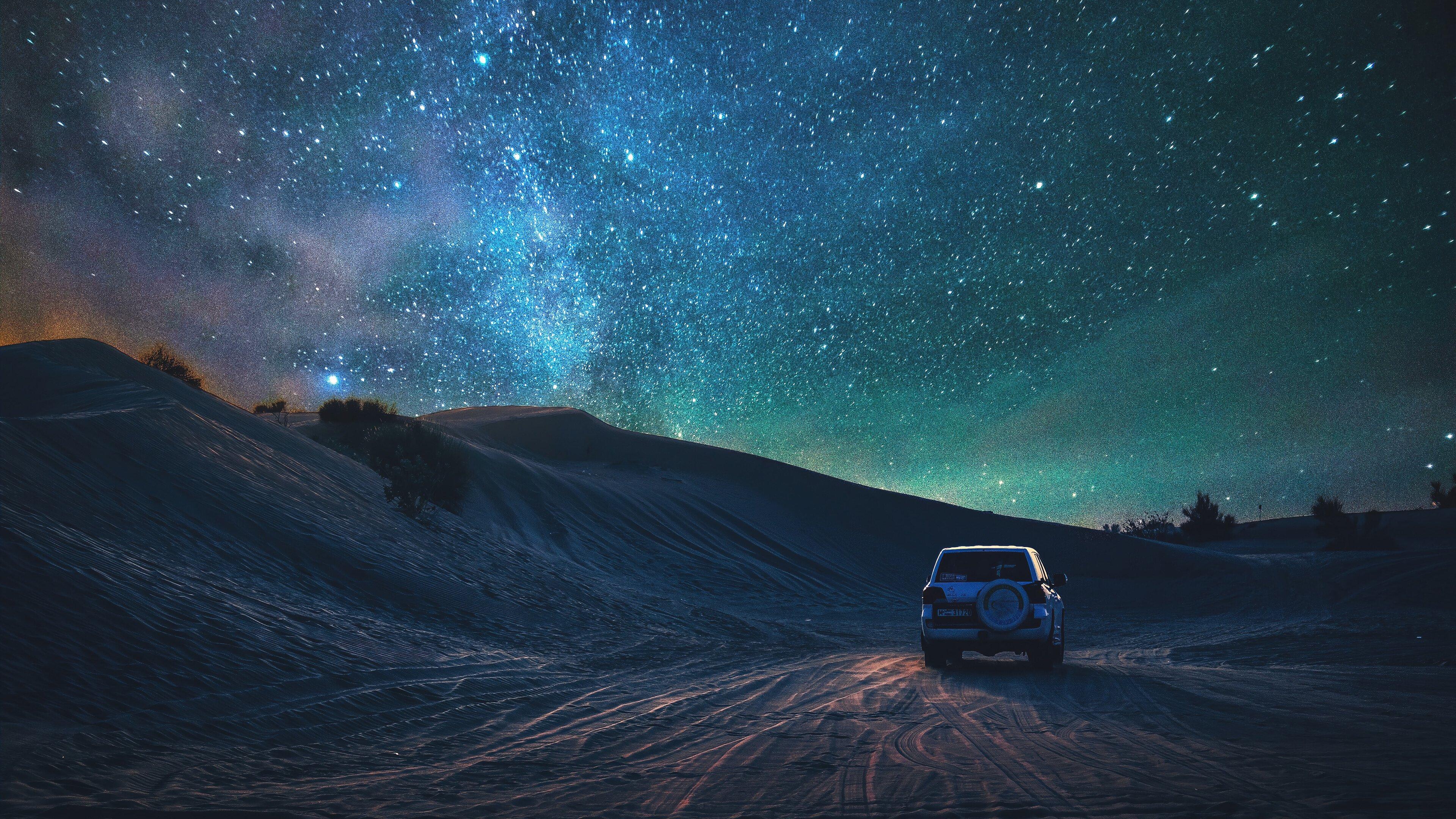 Wallpaper Desert and the stars