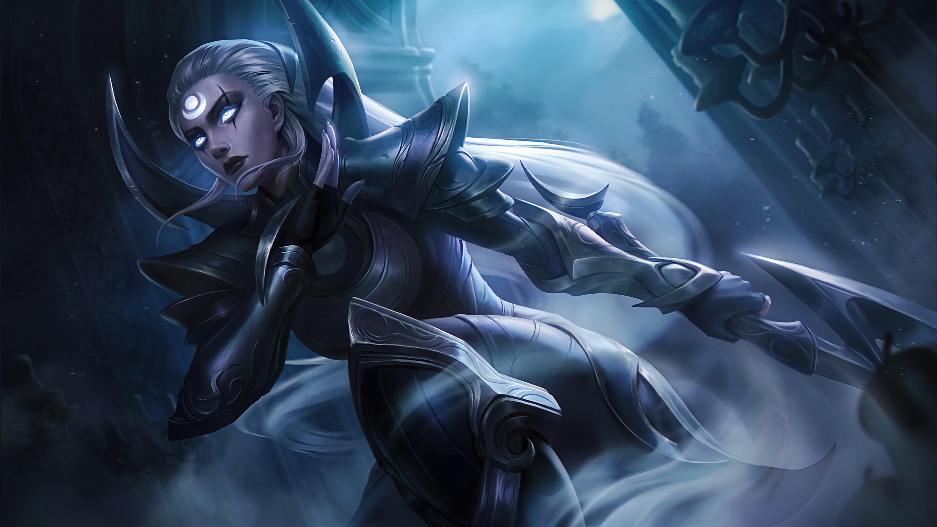 Wallpaper Diana League of Legends Art