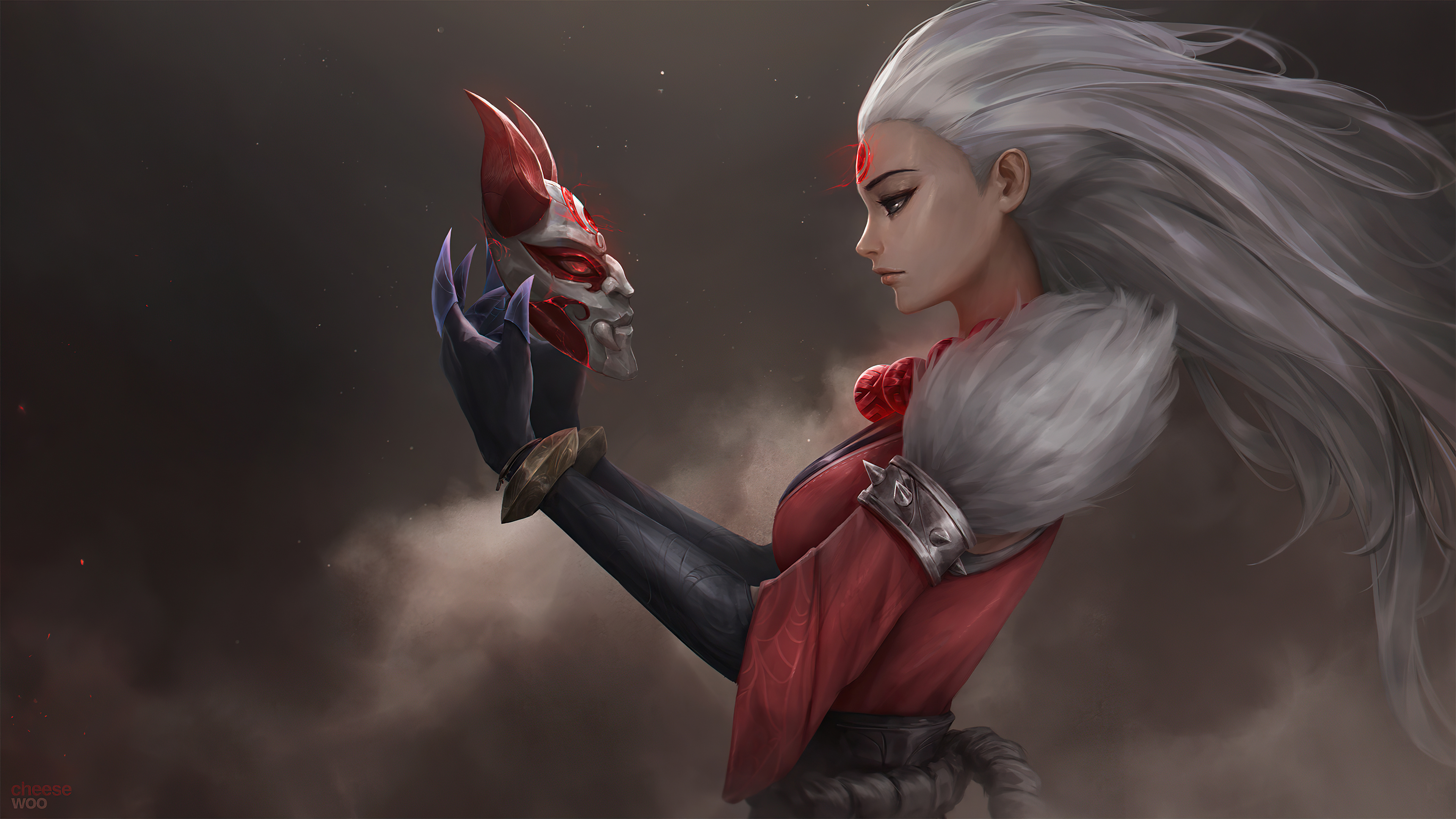 Wallpaper Diana The Blood Moons Call League of Legends