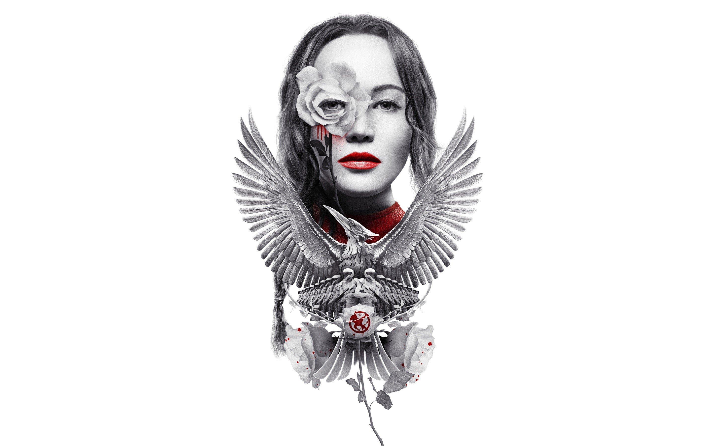Fondos de pantalla Dibujo de Katniss Everdeen como un sinsajo