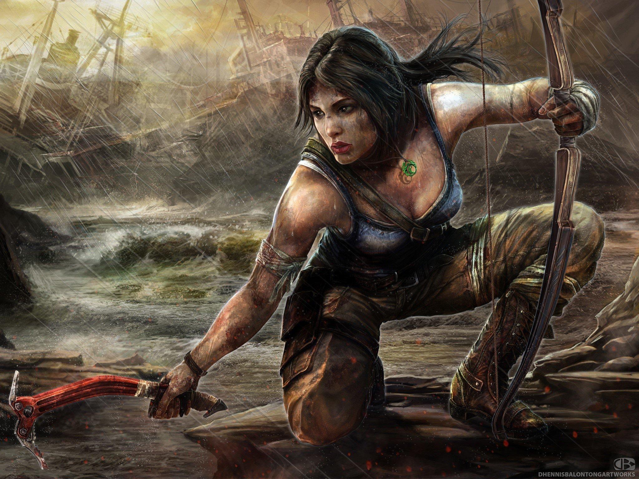 Fondos de pantalla Dibujo de Lara Croft Tomb Raider