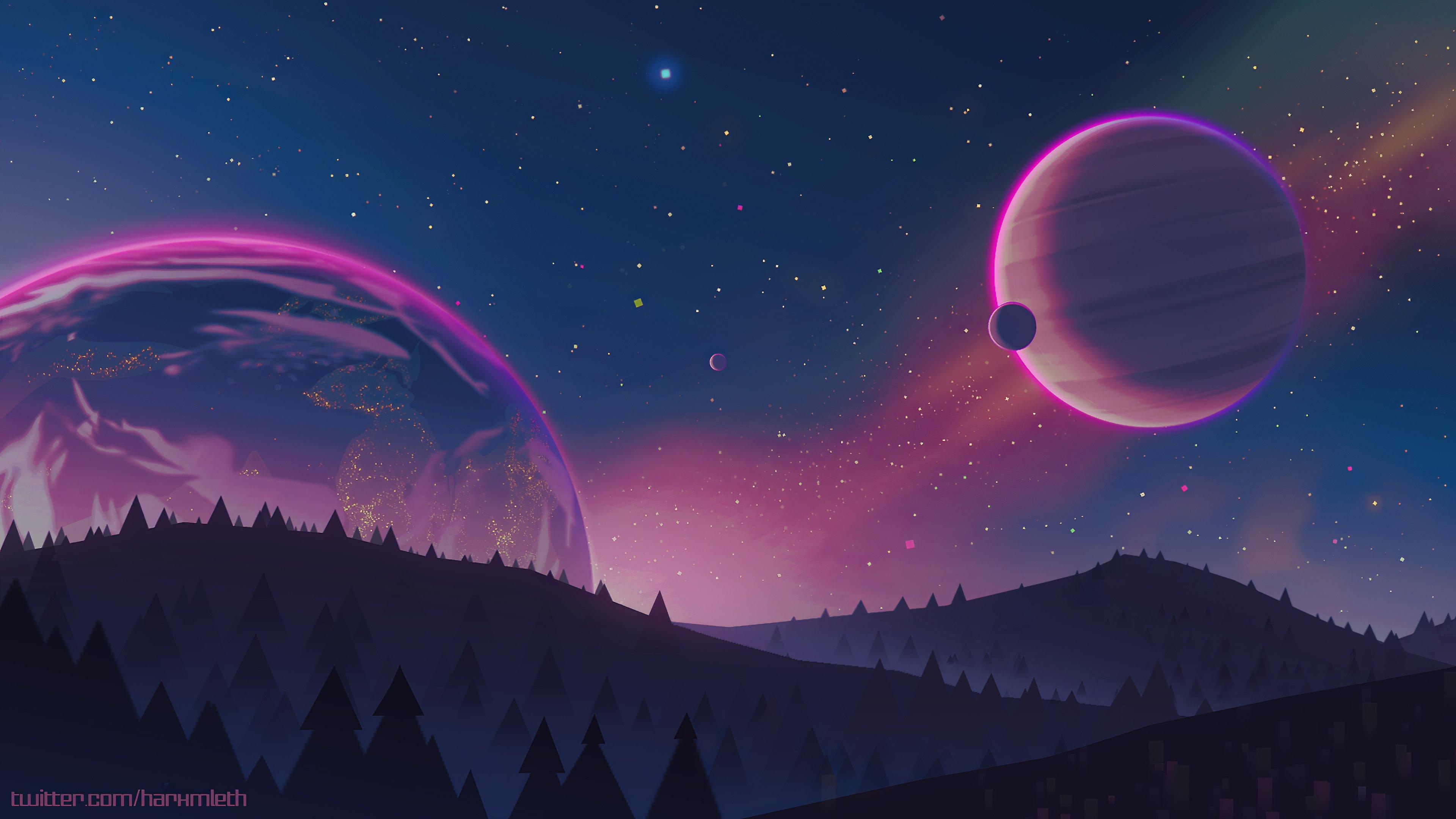 Wallpaper Design of space landscape