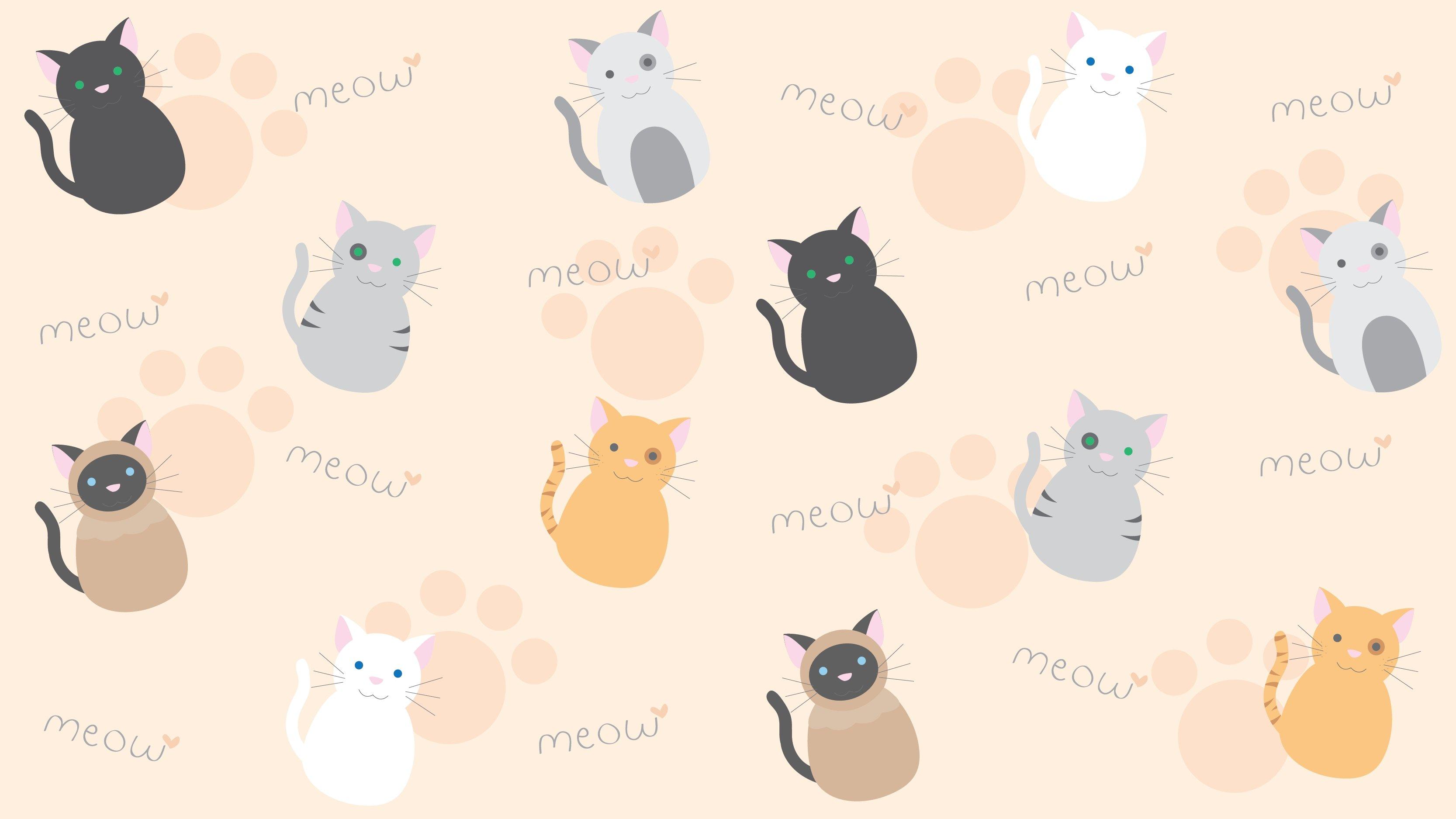 Fondos de pantalla Diseño patrón de Gatos