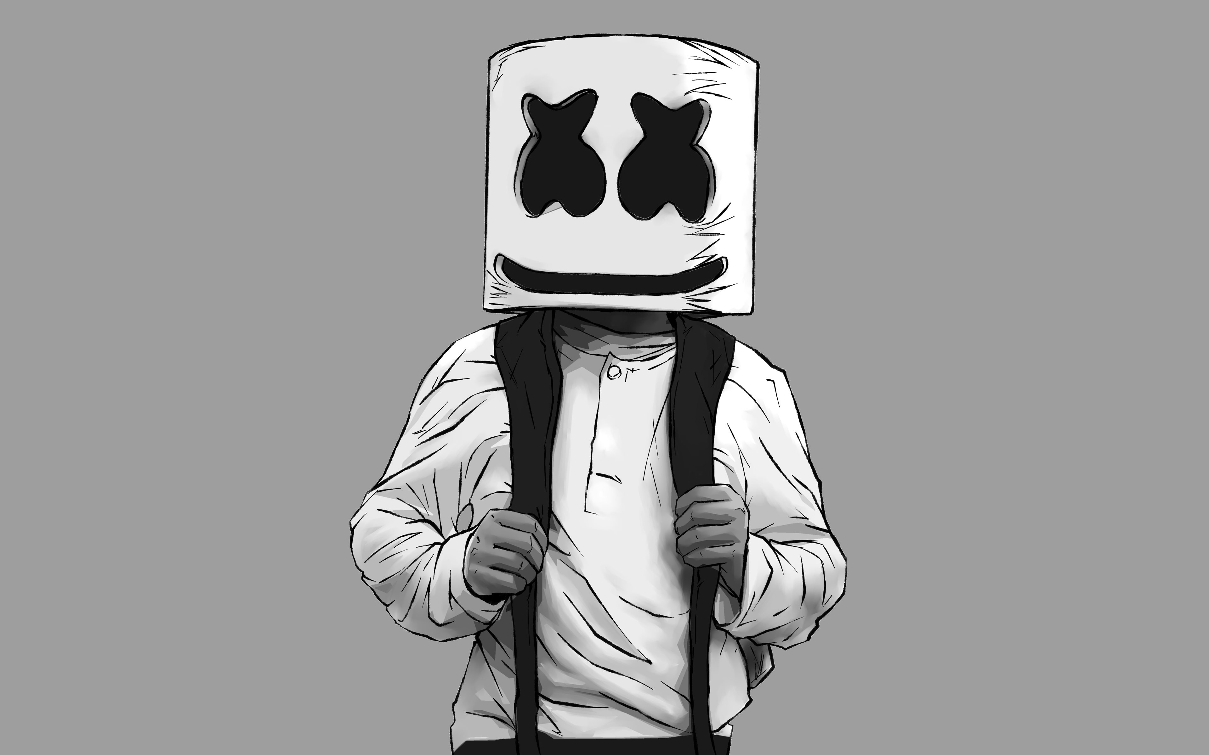 Fondos de pantalla DJ Marshmello Ilustración 2d