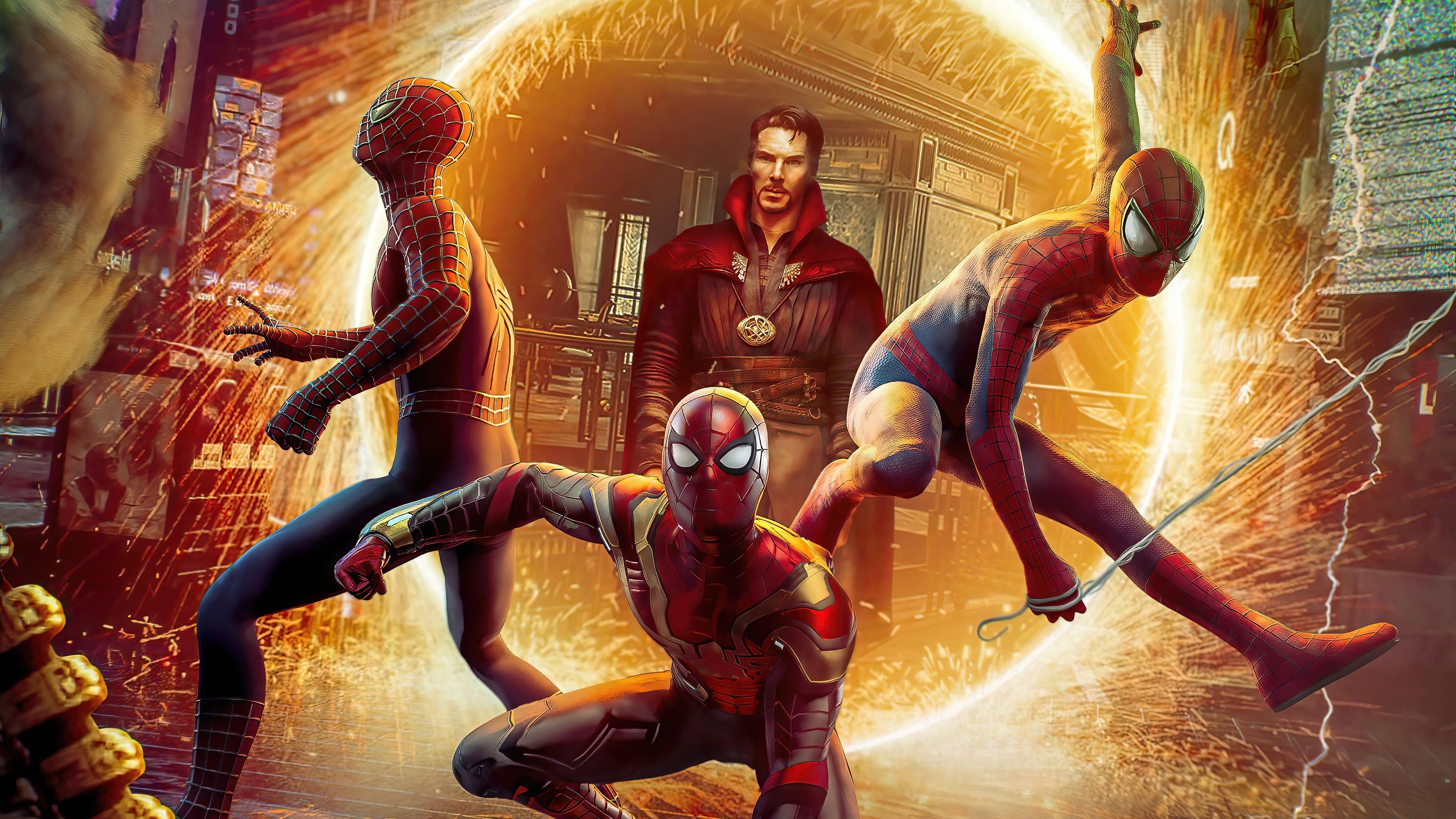 Wallpaper Doctor Strange in Spider Man No way home