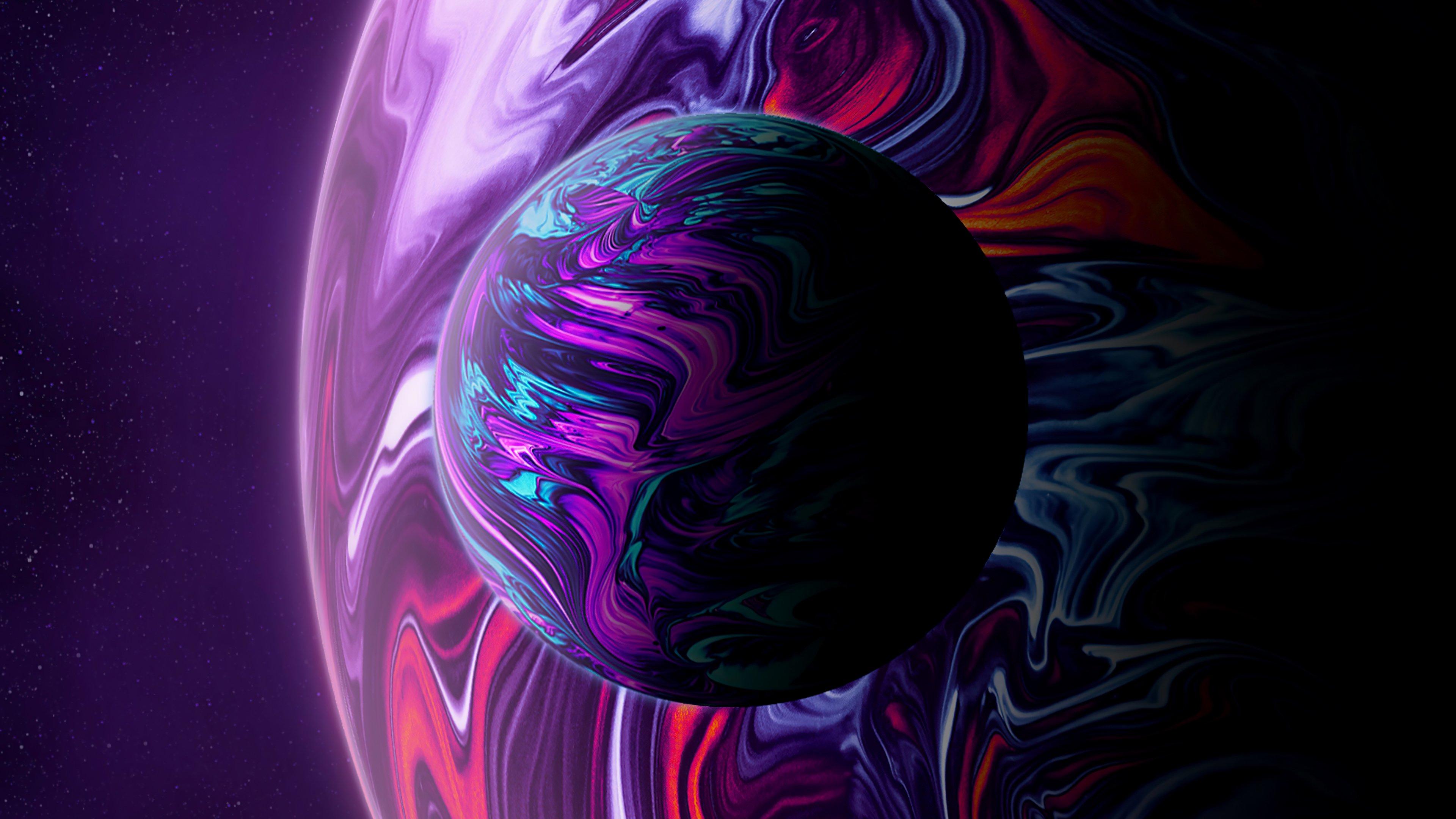 Fondos de pantalla Dos planetas