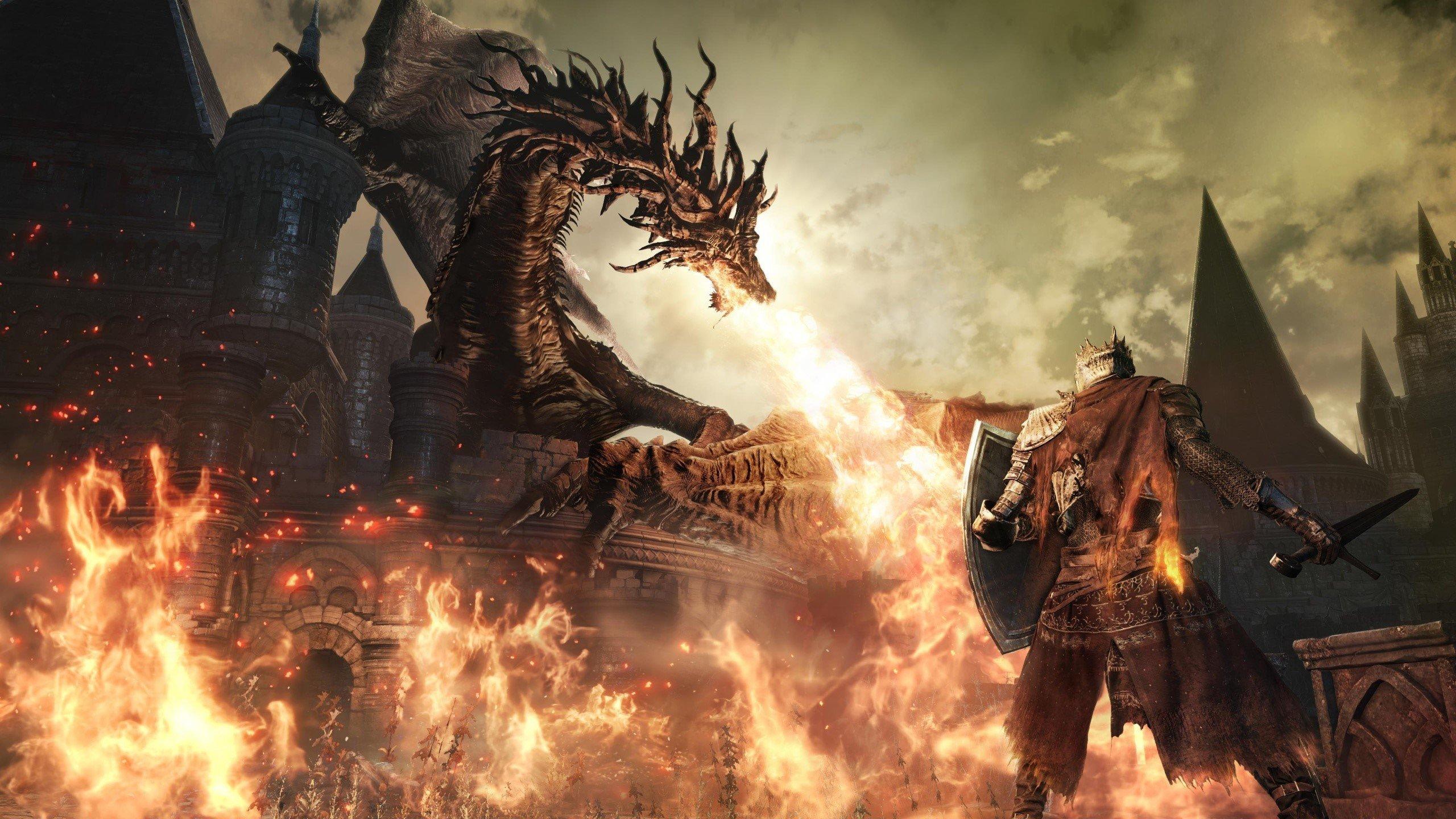 Wallpaper Dragon of Dark Souls