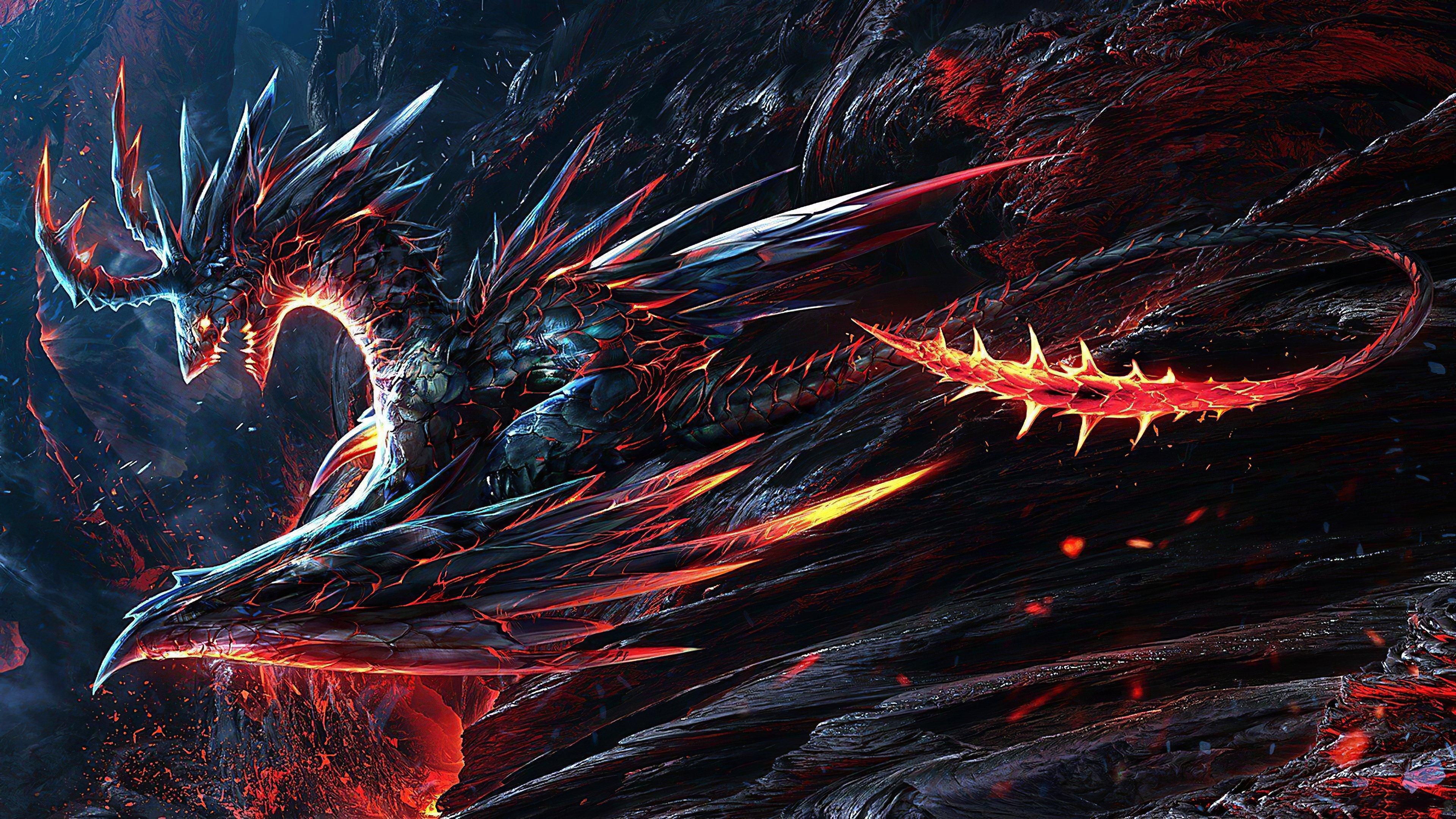 Fondos de pantalla Dragon en llamas