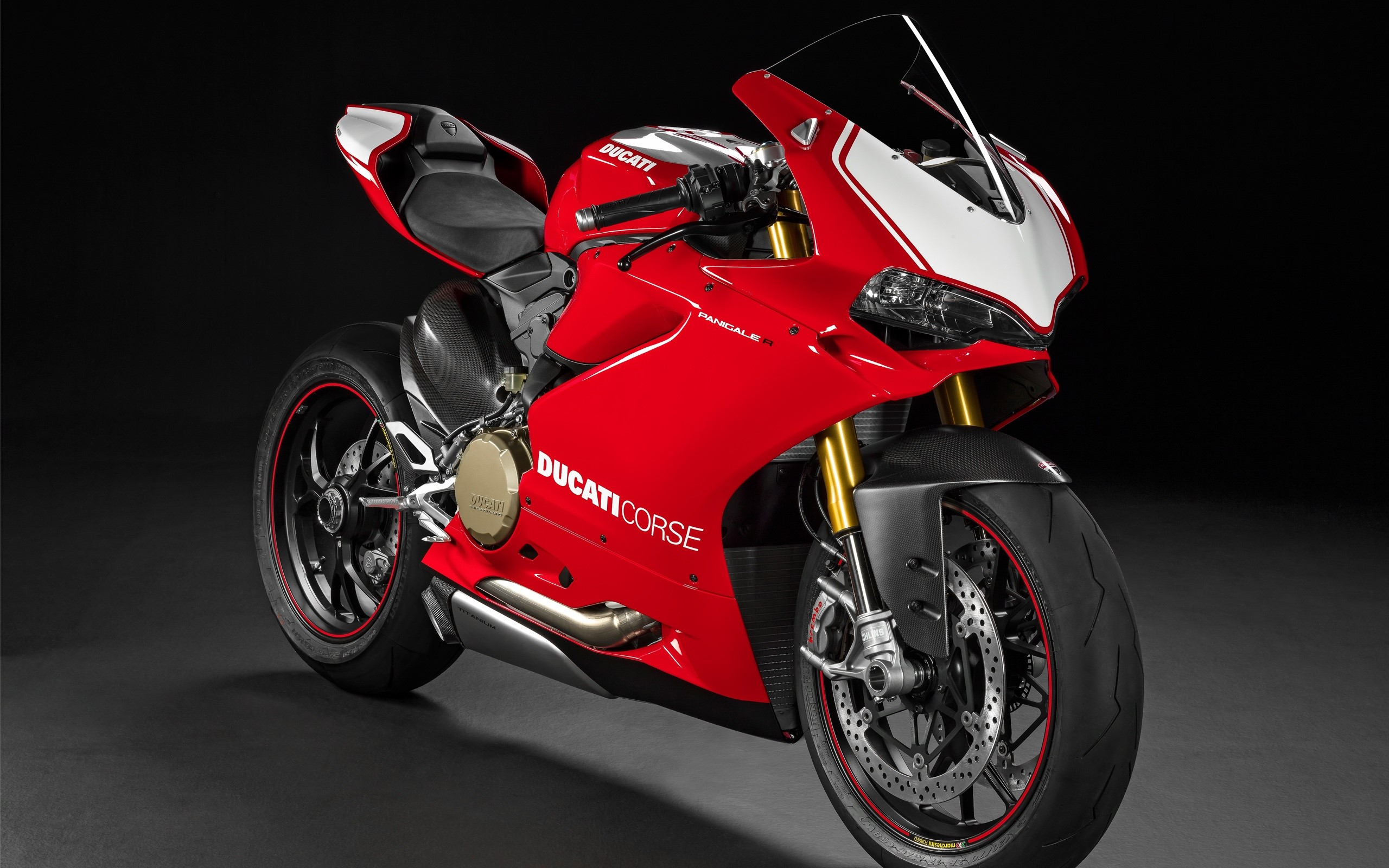 Wallpaper Ducati Panigale R superbike red