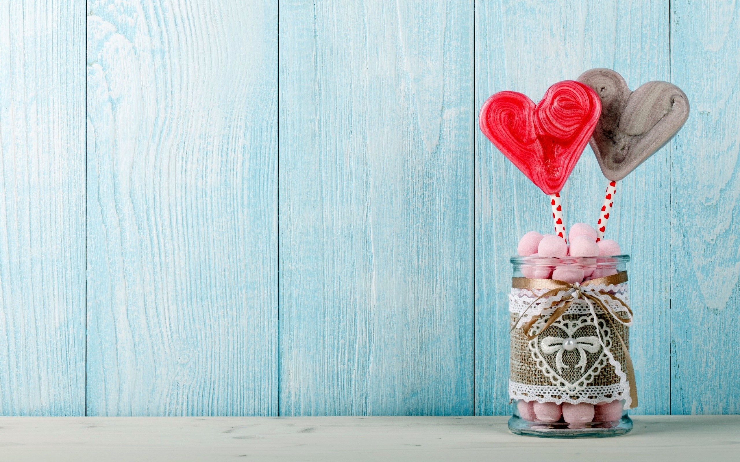 Wallpaper Heart candy in a jar