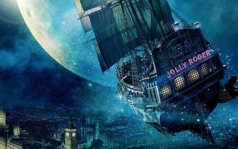 Fondos de pantalla El barco Jolly Roger en Peter Pan