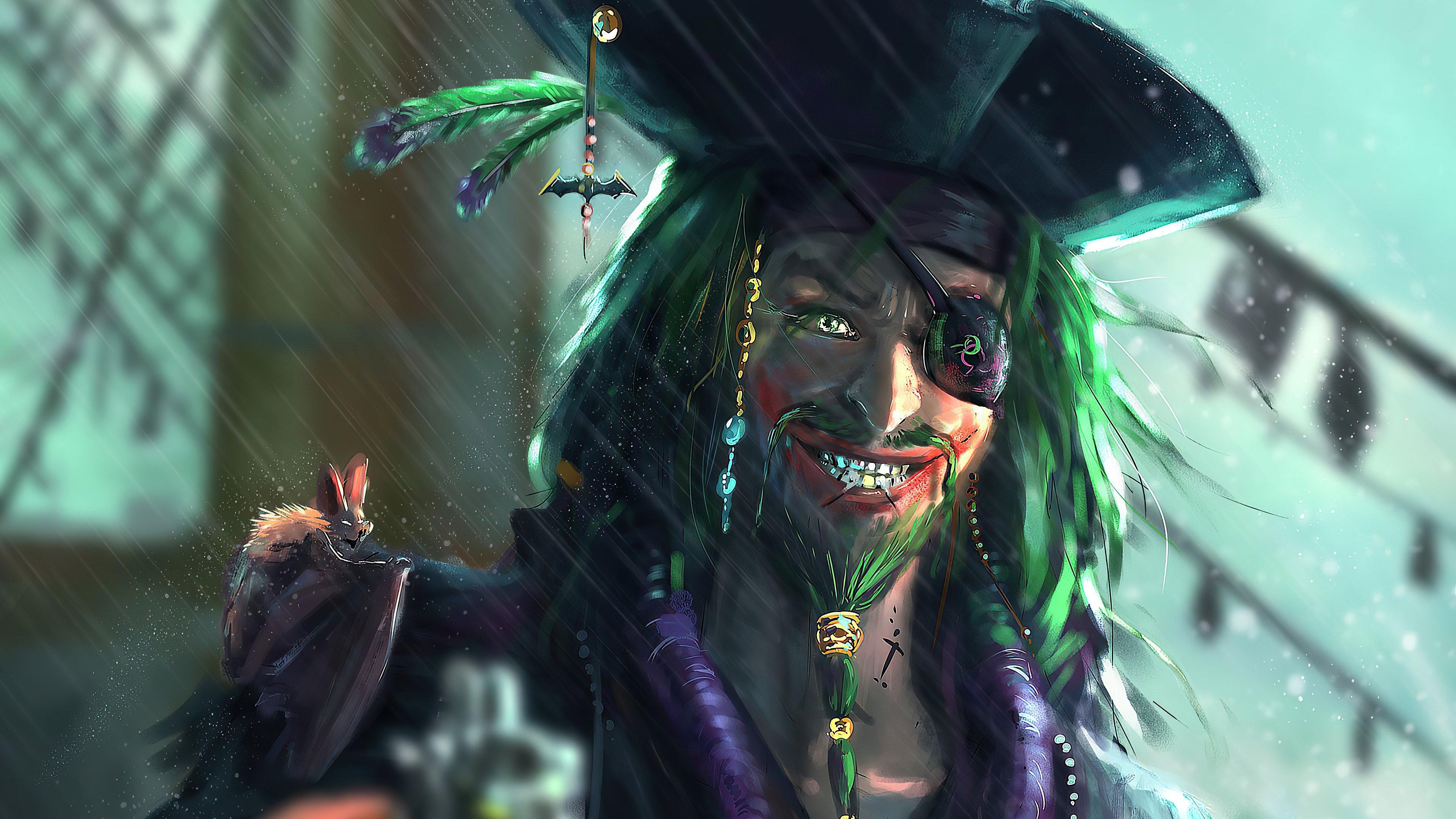 Fondos de pantalla El Guasón como pirata