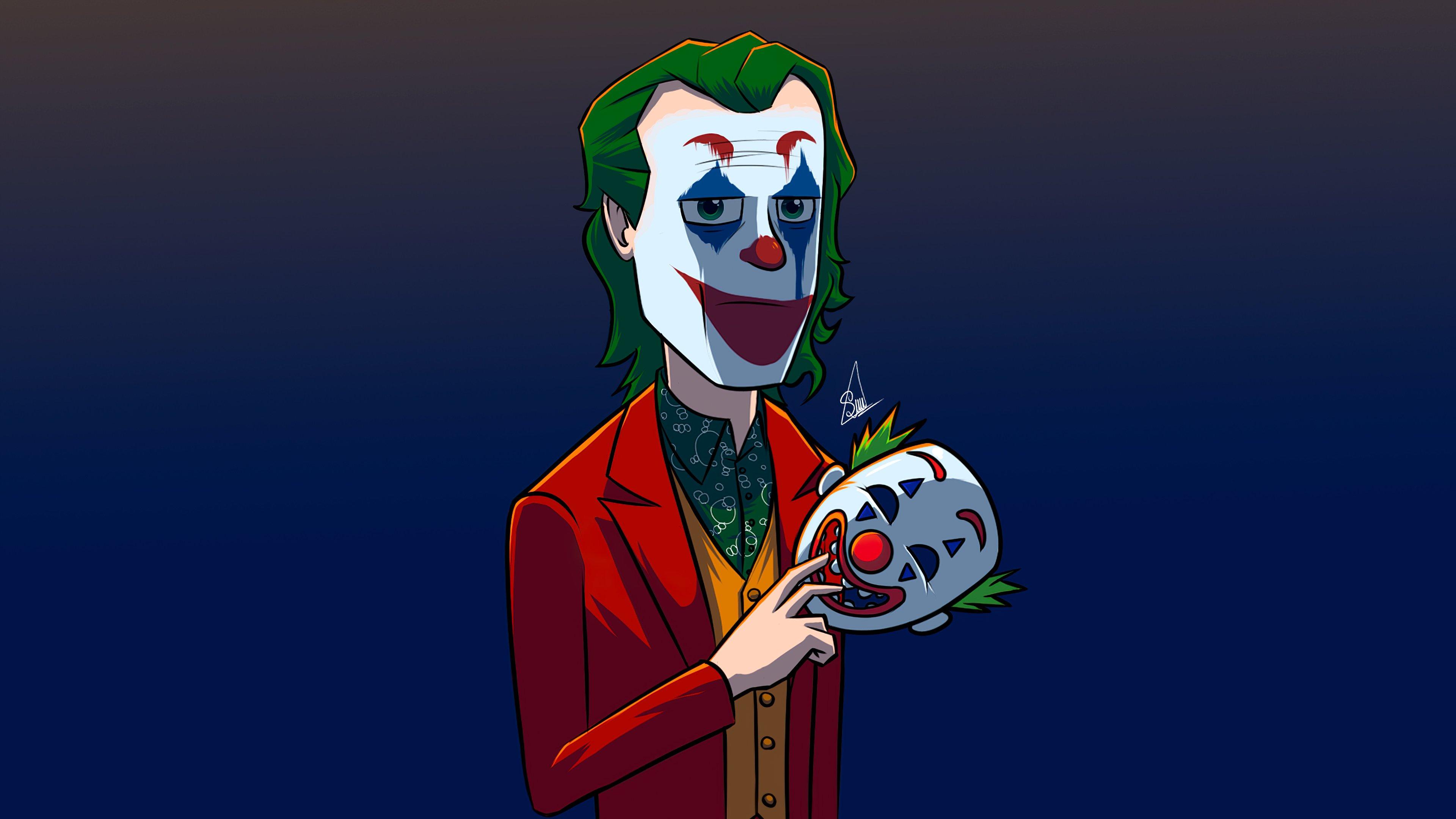 Fondos de pantalla El guasón con máscara de payaso
