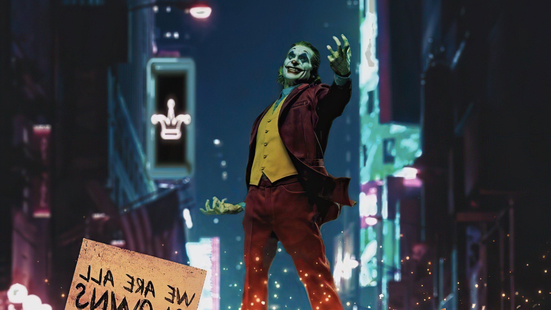 Wallpaper Joker in city