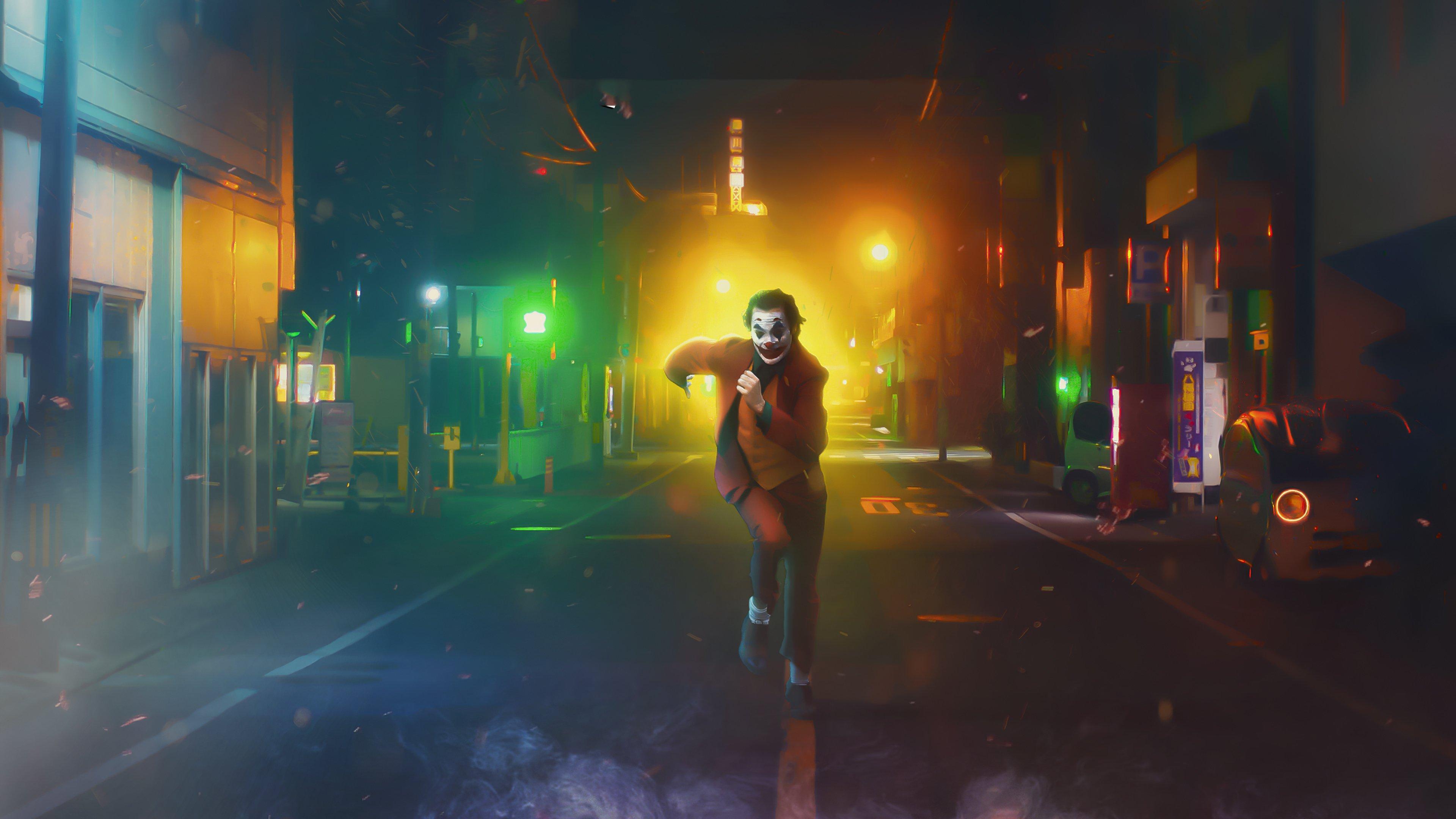 Wallpaper Joker on the run