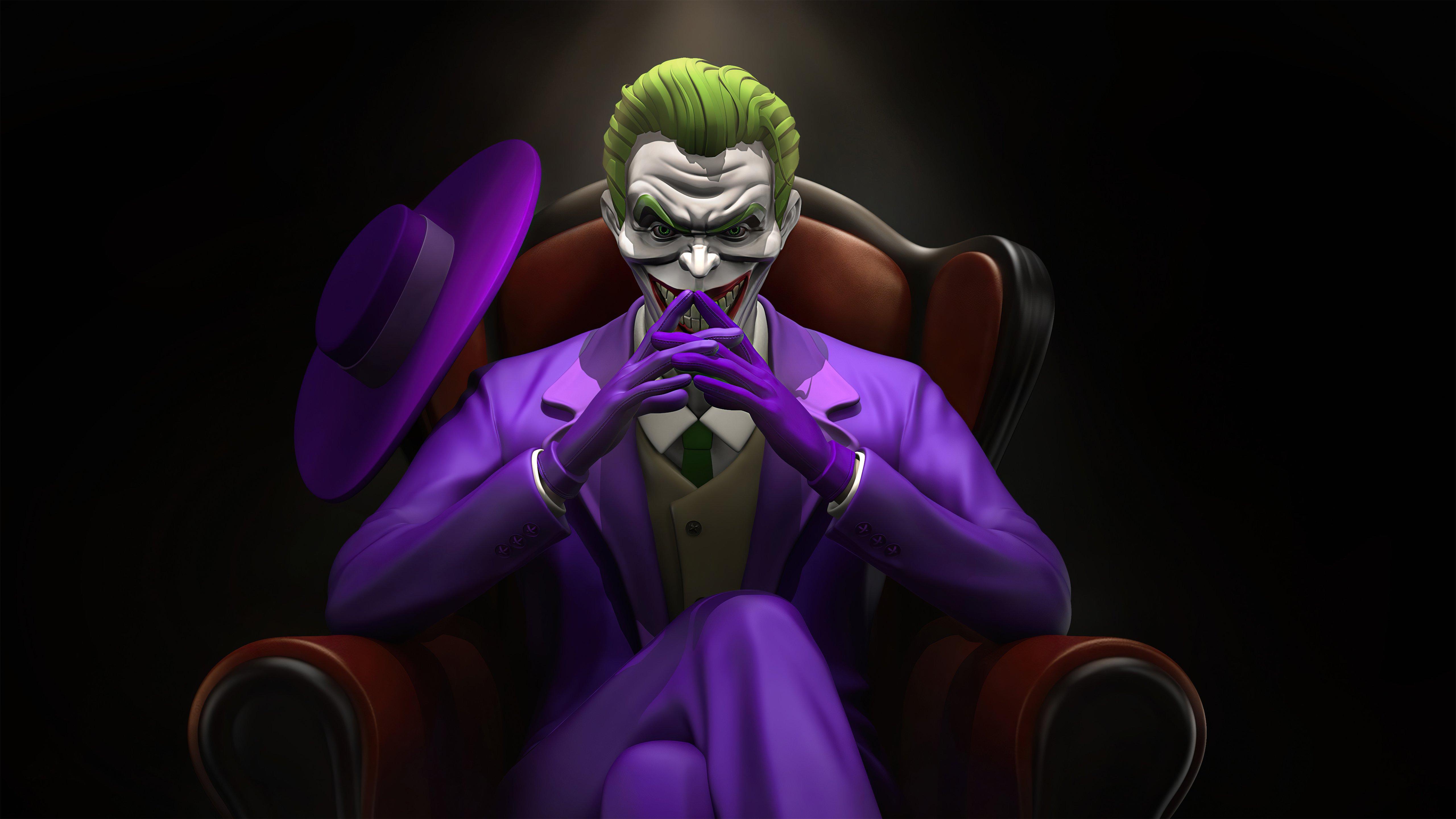 Wallpaper Joker thinking